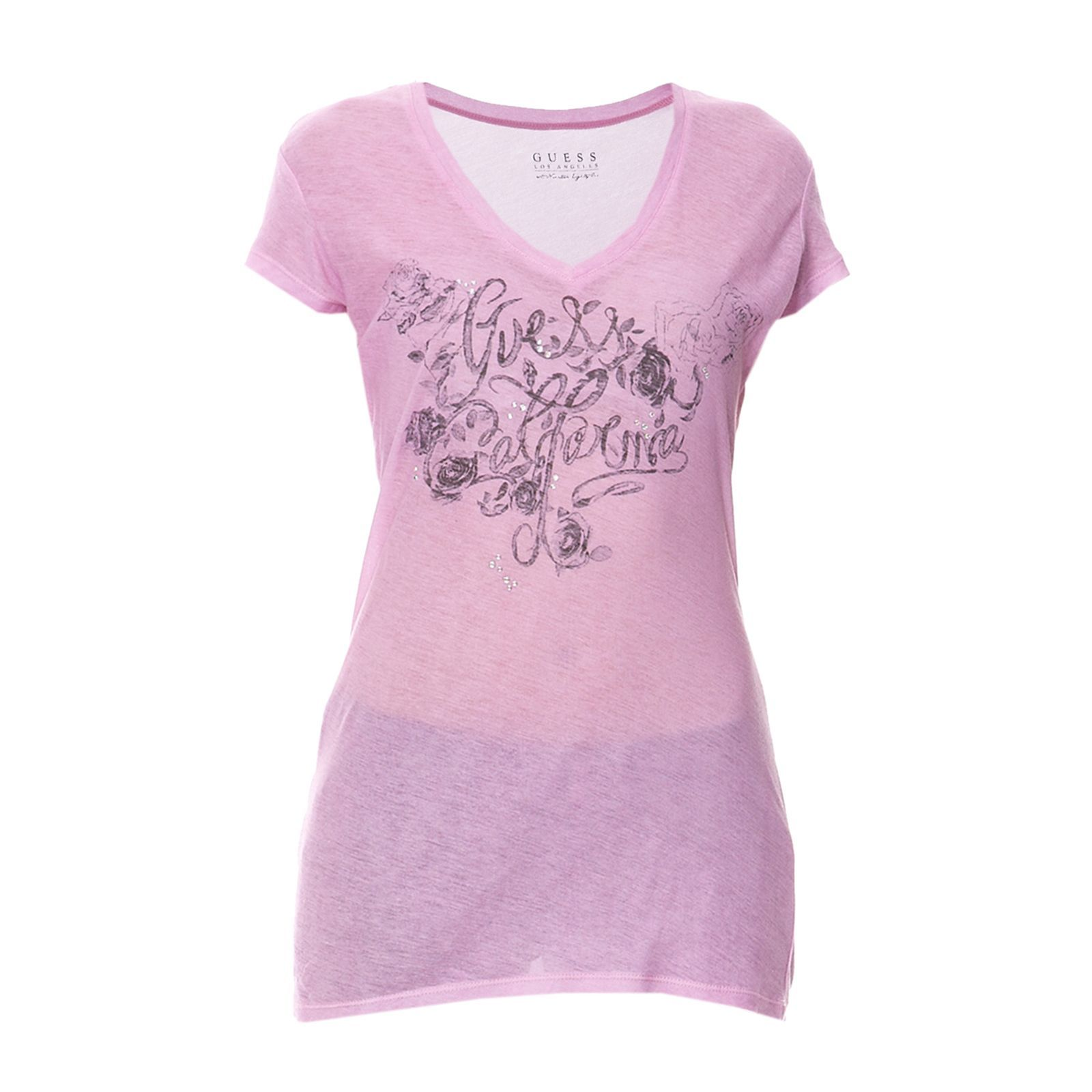 Guess :  T-shirt - rose