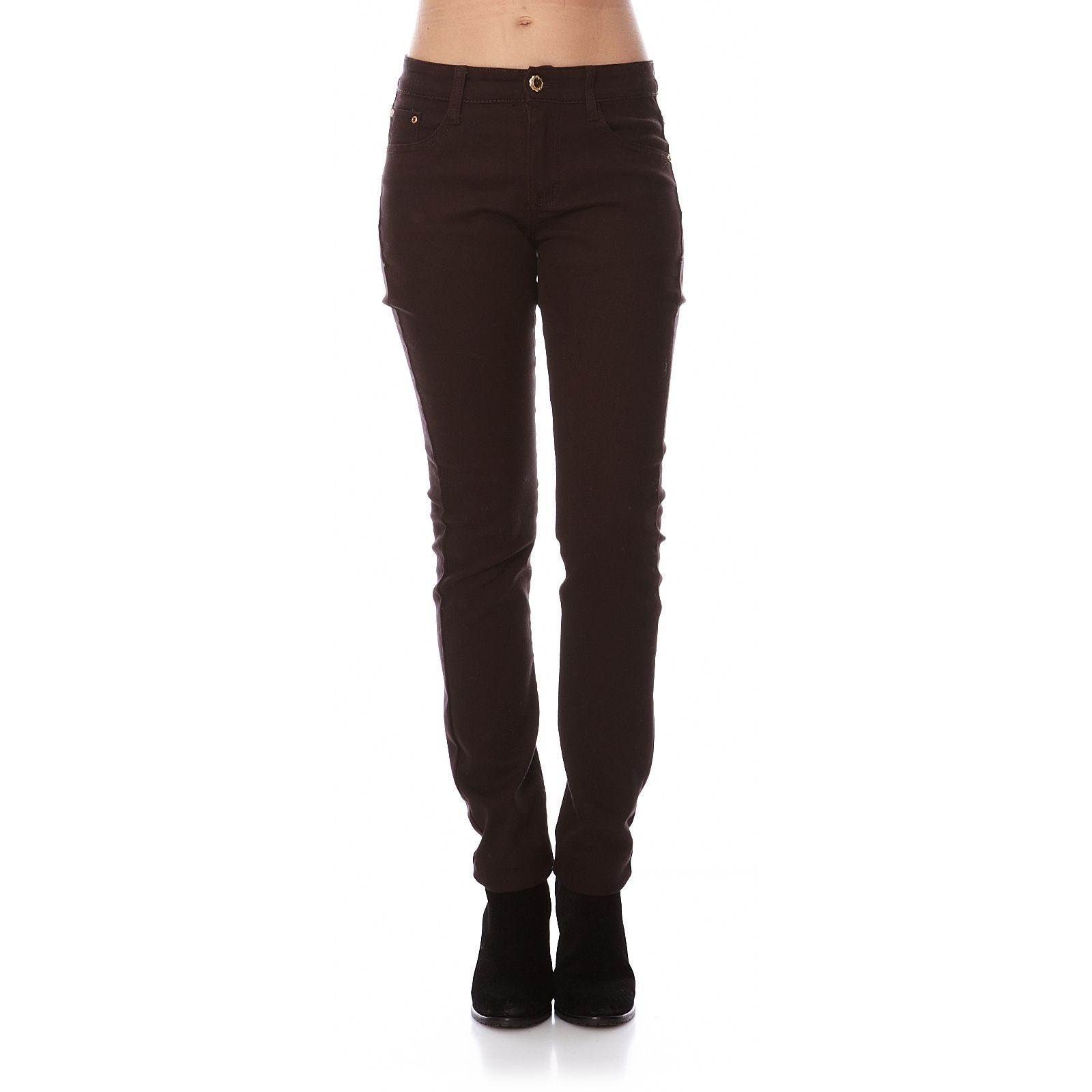 In�s de la Fressange Jeans Jean stretch marron