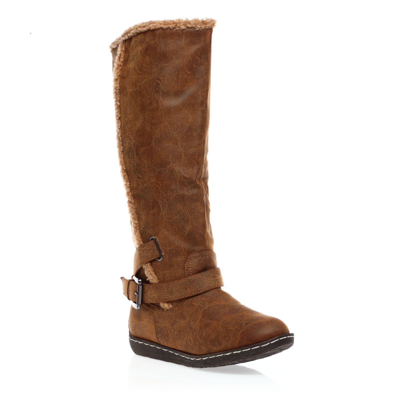 1001 Shoes bottes four�es camel