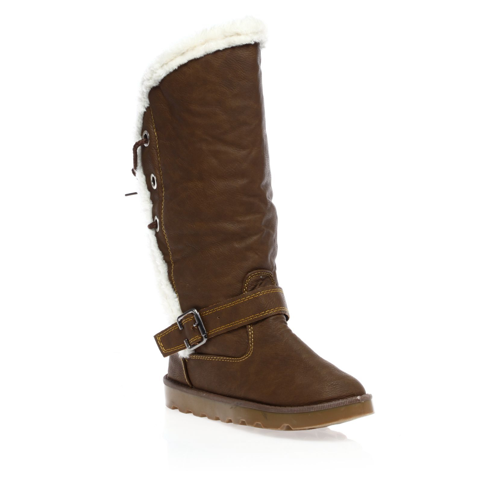 1001 Shoes bottes fourr�es marron clair