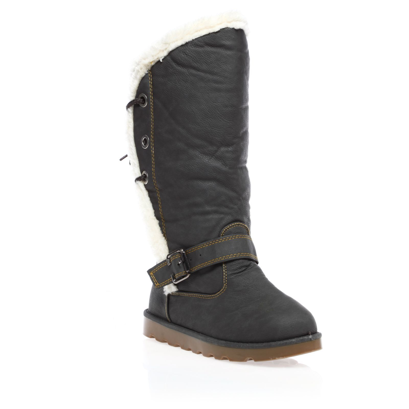 1001 Shoes bottes fourr�es grises