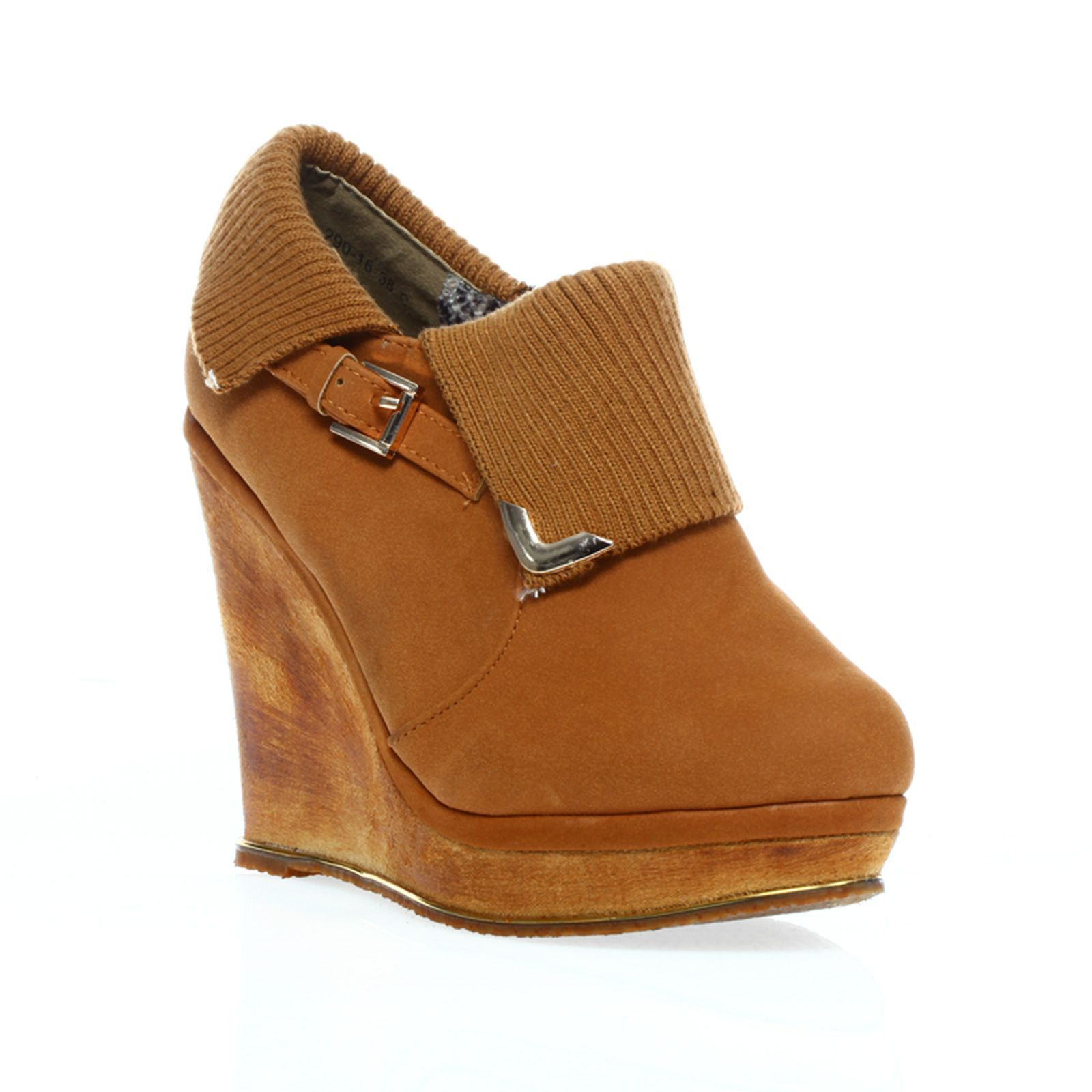 1001 Shoes compens�es - camel