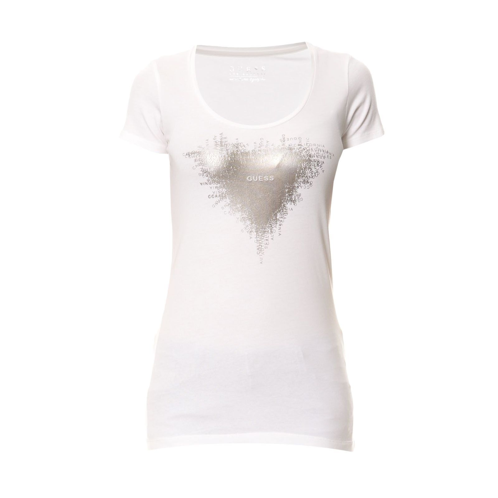 Guess :  T-shirt Triangle blanc