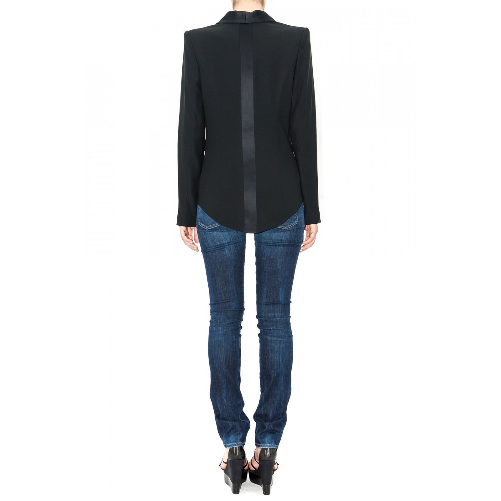 Stefanie renoma veste de smoking queue de pie noir - Veste queue de pie homme pas cher ...
