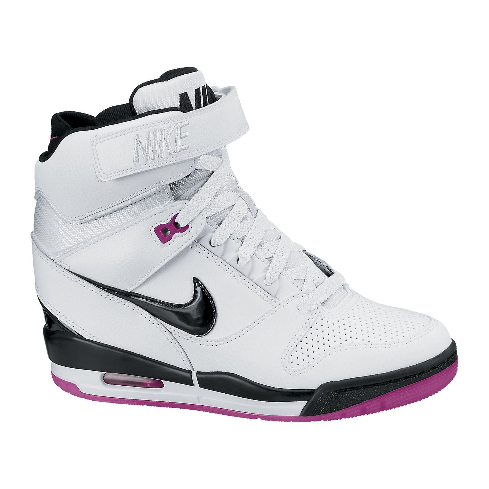 nike air revolution sky hi baskets compens es blanc brandalley. Black Bedroom Furniture Sets. Home Design Ideas