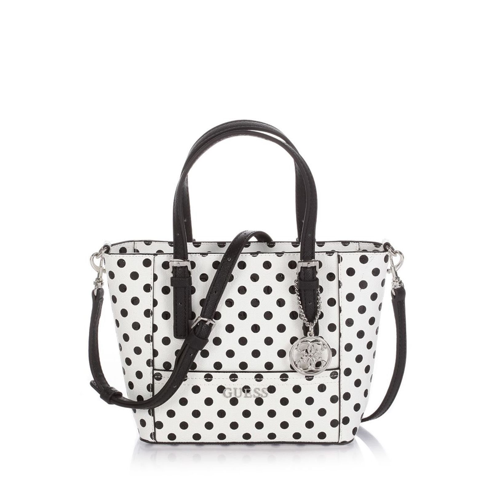 Guess :  Delaney Petite Tote Pointed - Combinaison - blanc
