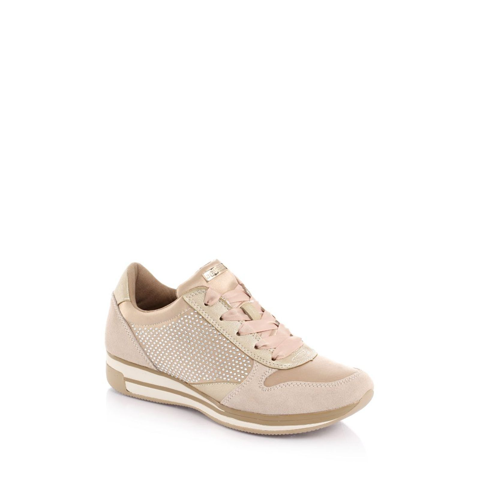 Guess :  Valeny Glittery - Sneakers - beige