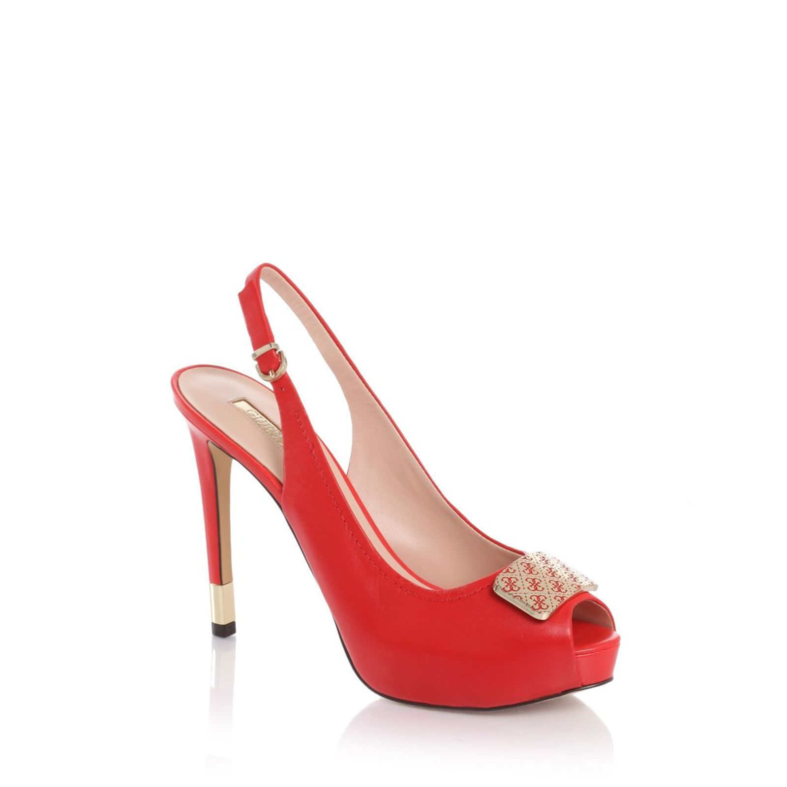 Guess :  Holger - Chaussures � talon - rouge