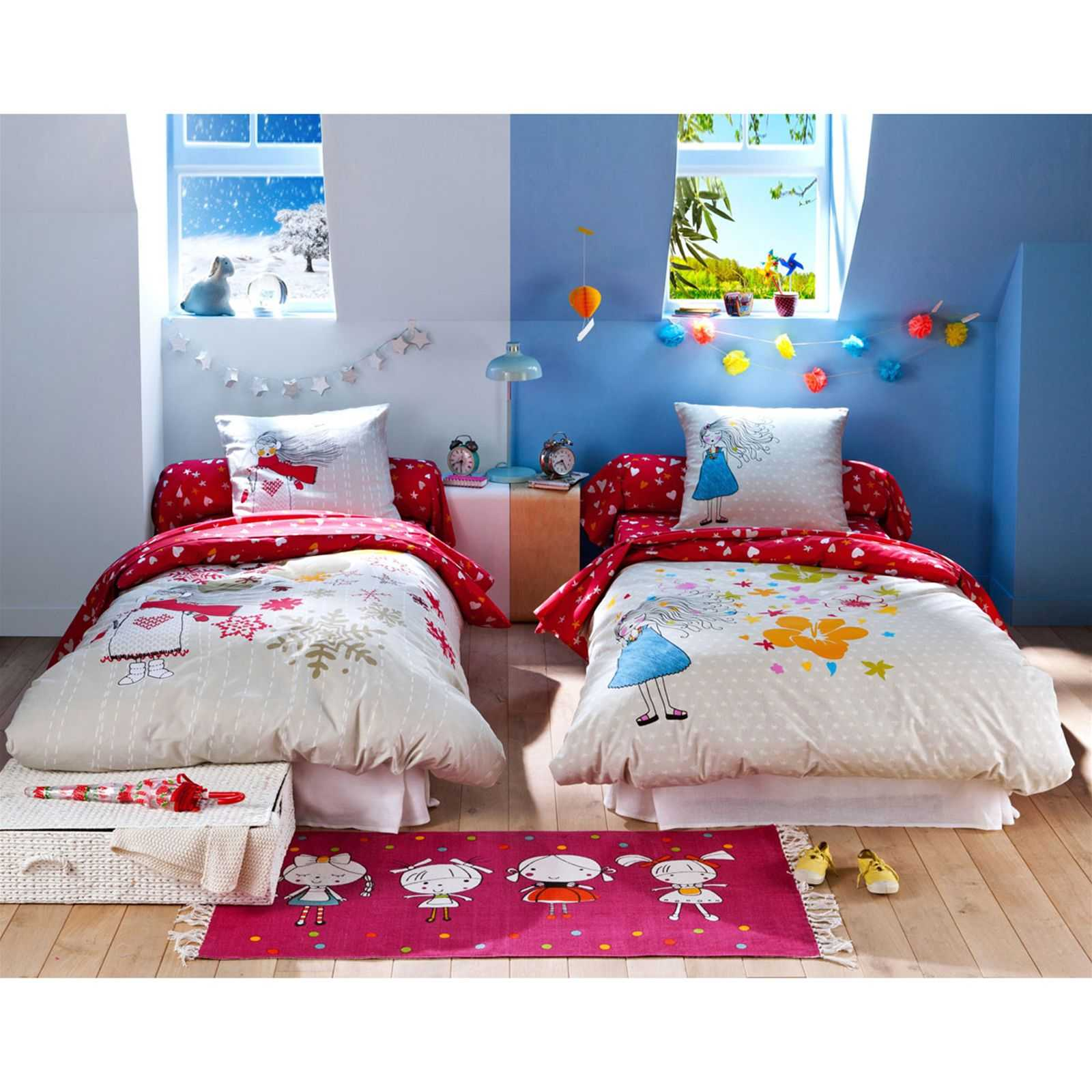 becquet housse de couette enfant double face 2 saisons blanc brandalley. Black Bedroom Furniture Sets. Home Design Ideas