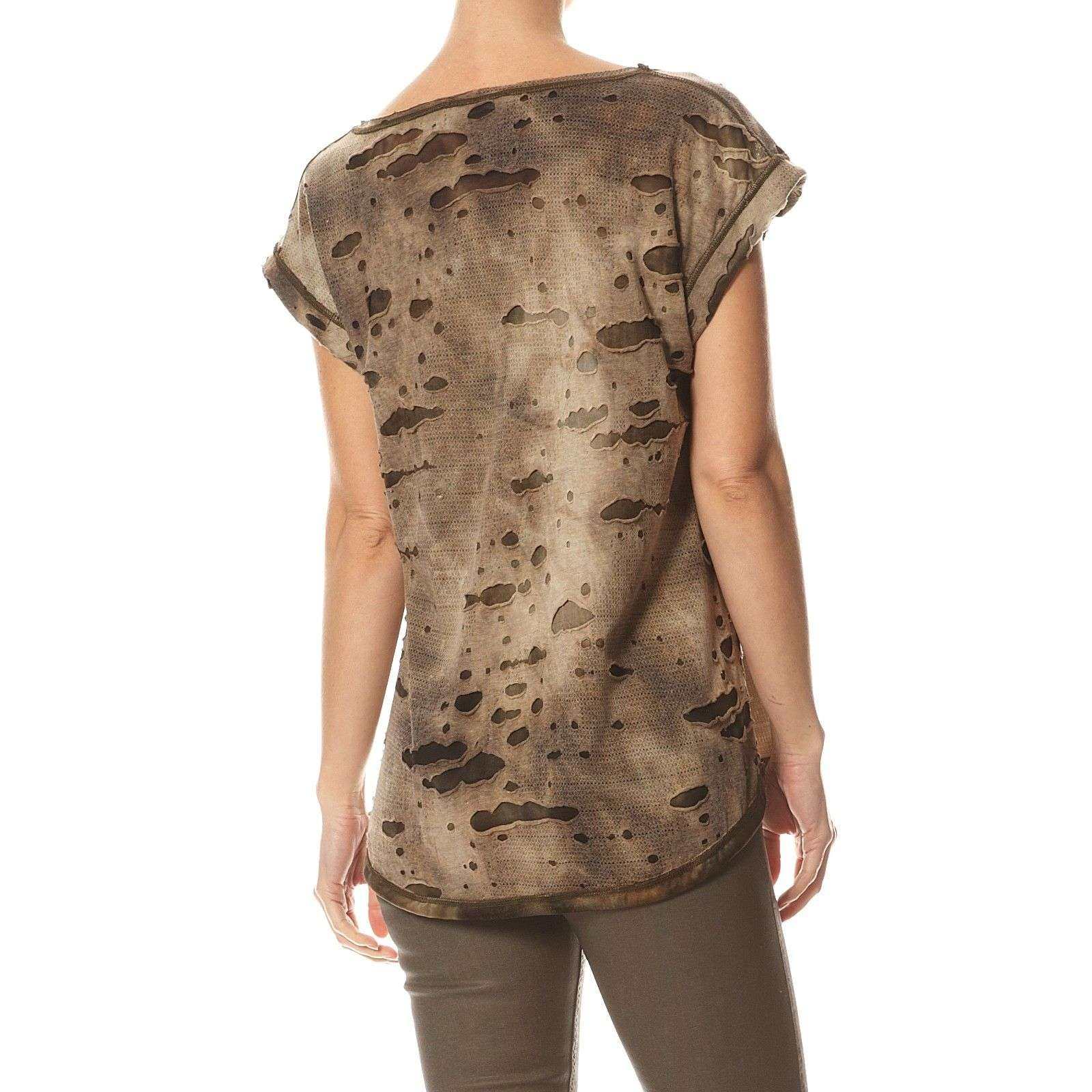 Vidal CourtesBronze V Femme T shirt Lauren Manches EYeDH29WI