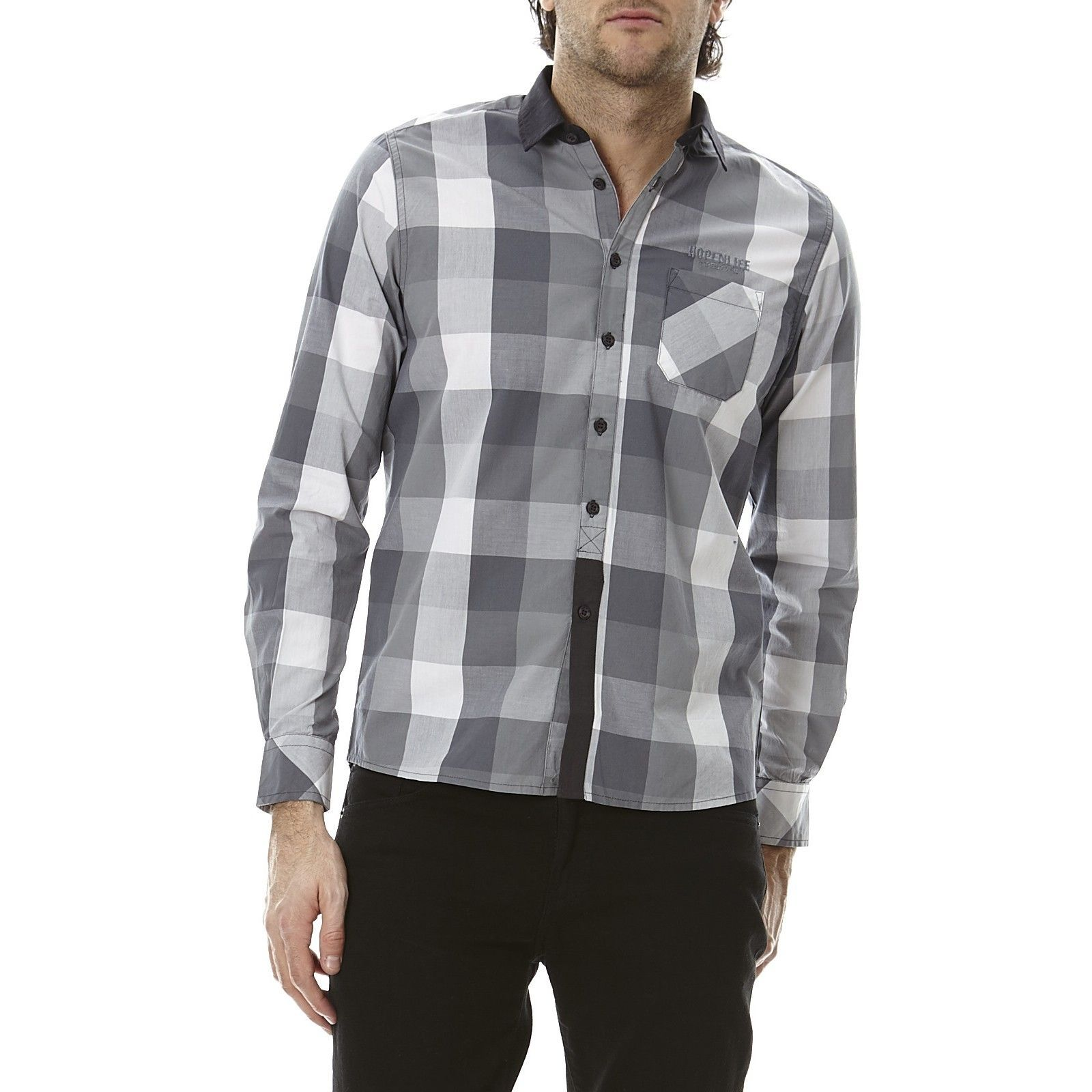 N Longues Gris Hope Life Manches NaitoChemise Homme V PwkZXiuOT