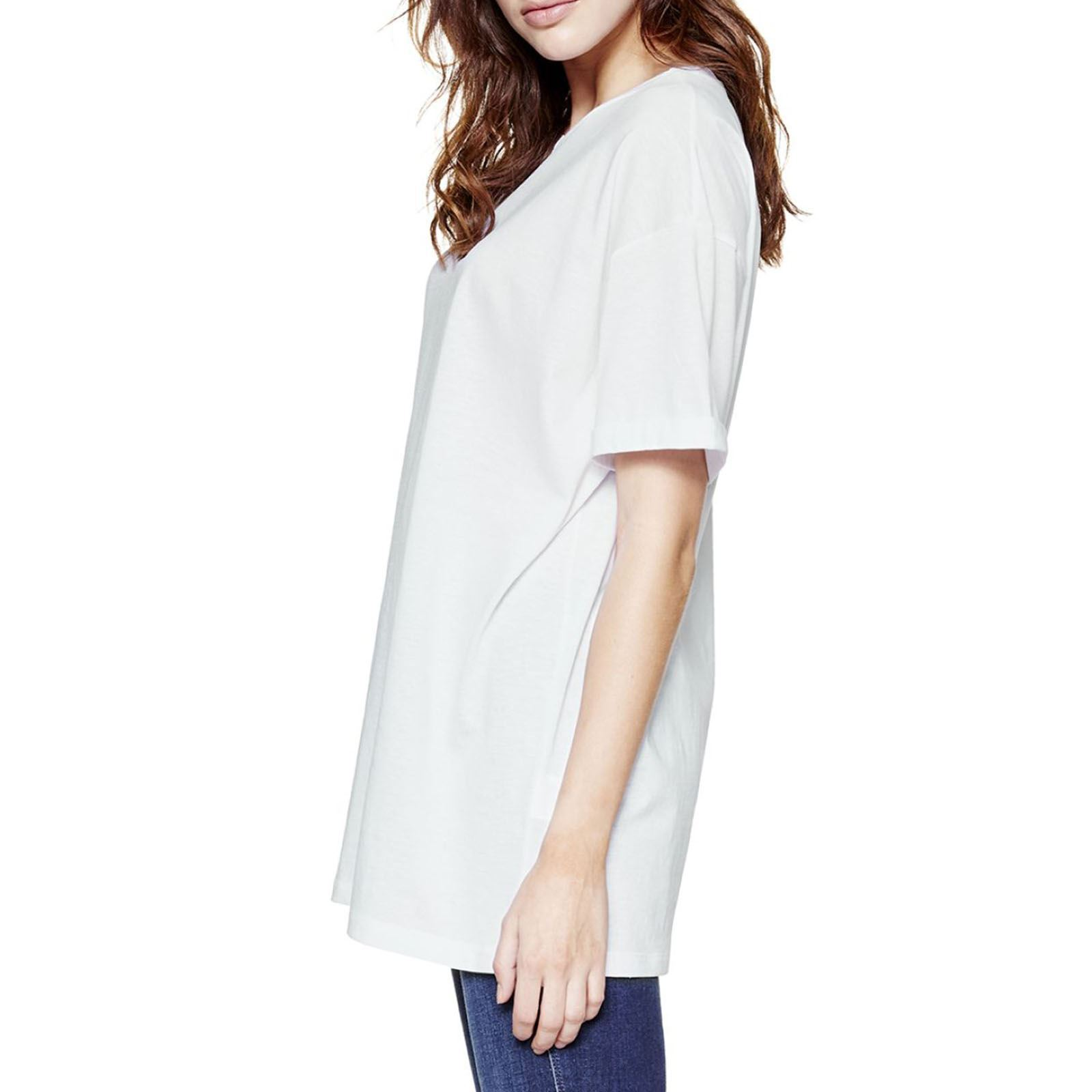 Benetton Femme CourtesBlanc T Manches V shirt tsQrxBhdC