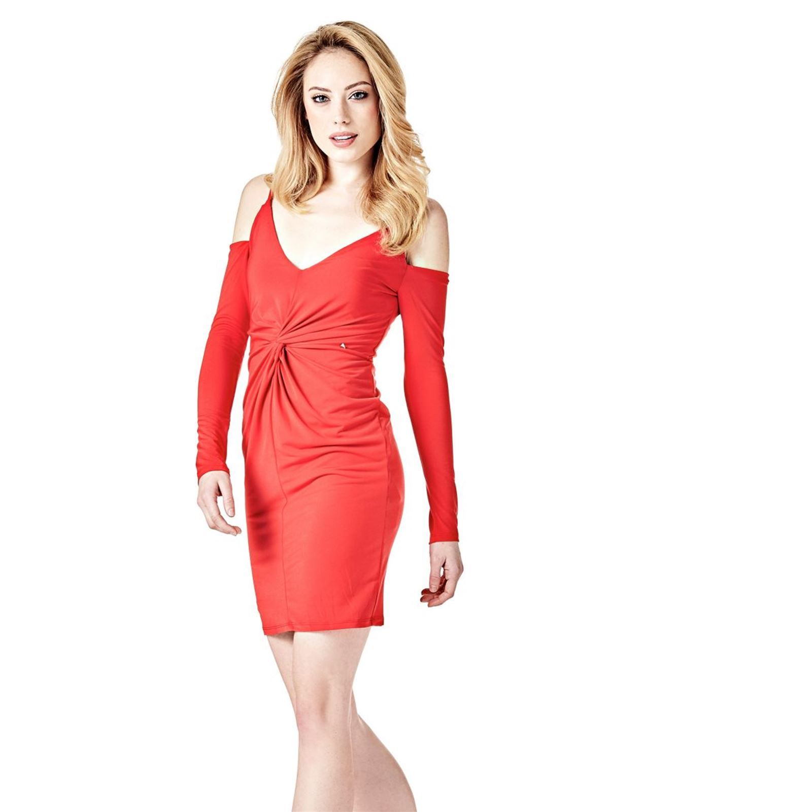 Femme V DroiteRouge Femme Robe Guess DroiteRouge Guess Robe GqzSUVMp