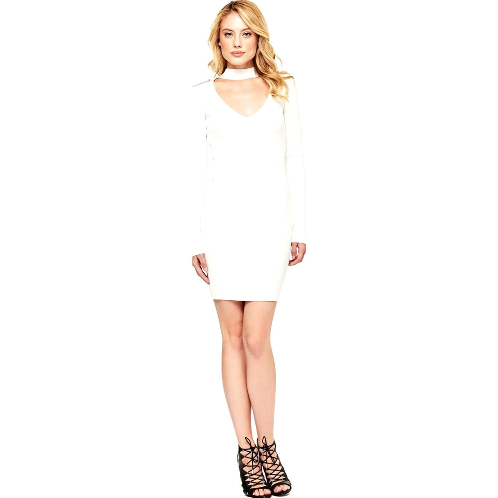 CourteBlanc V Robe Guess Guess Robe Femme W2Y9IDHeE