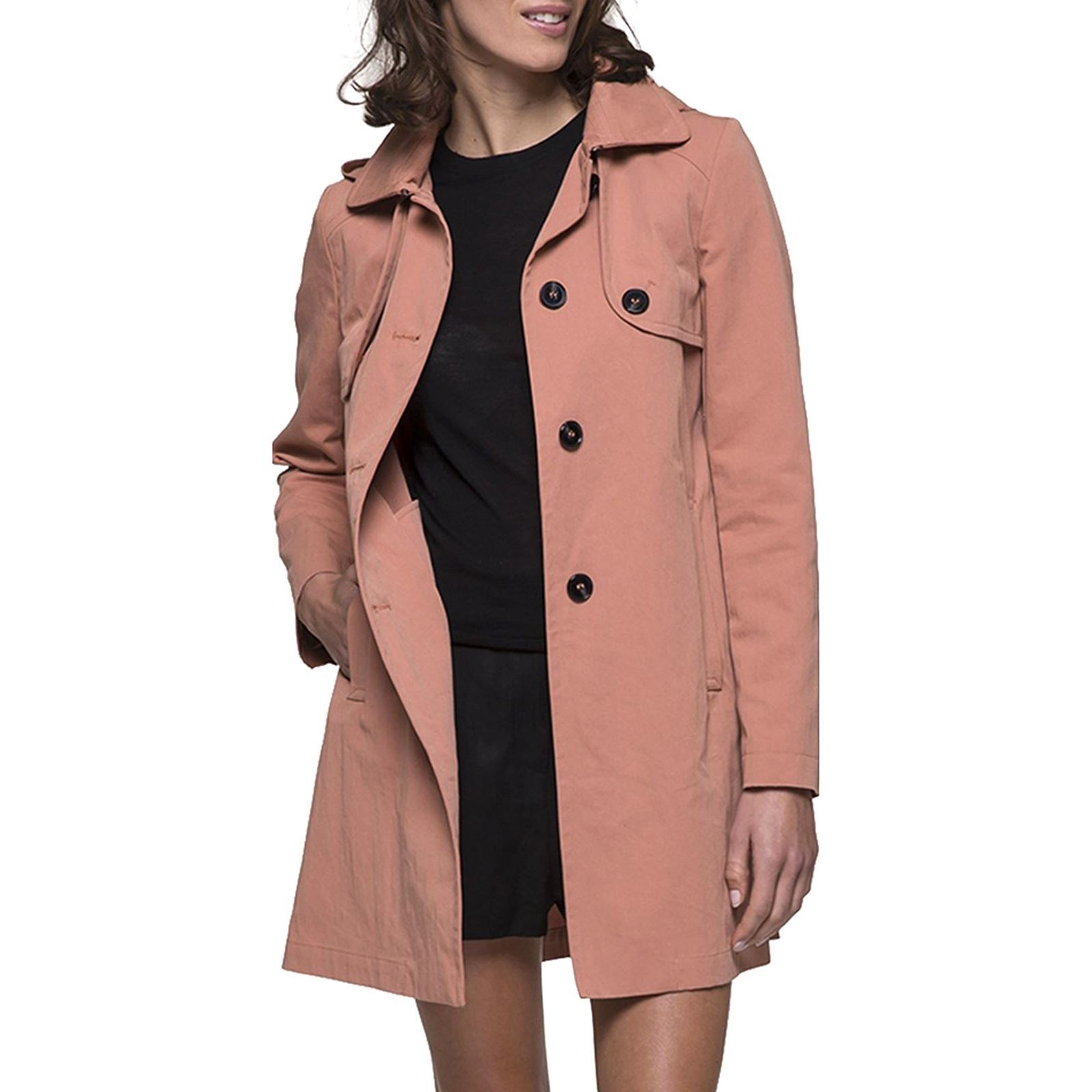 SofreshSaumon And Coat V Femme Trench VqUpSzMG