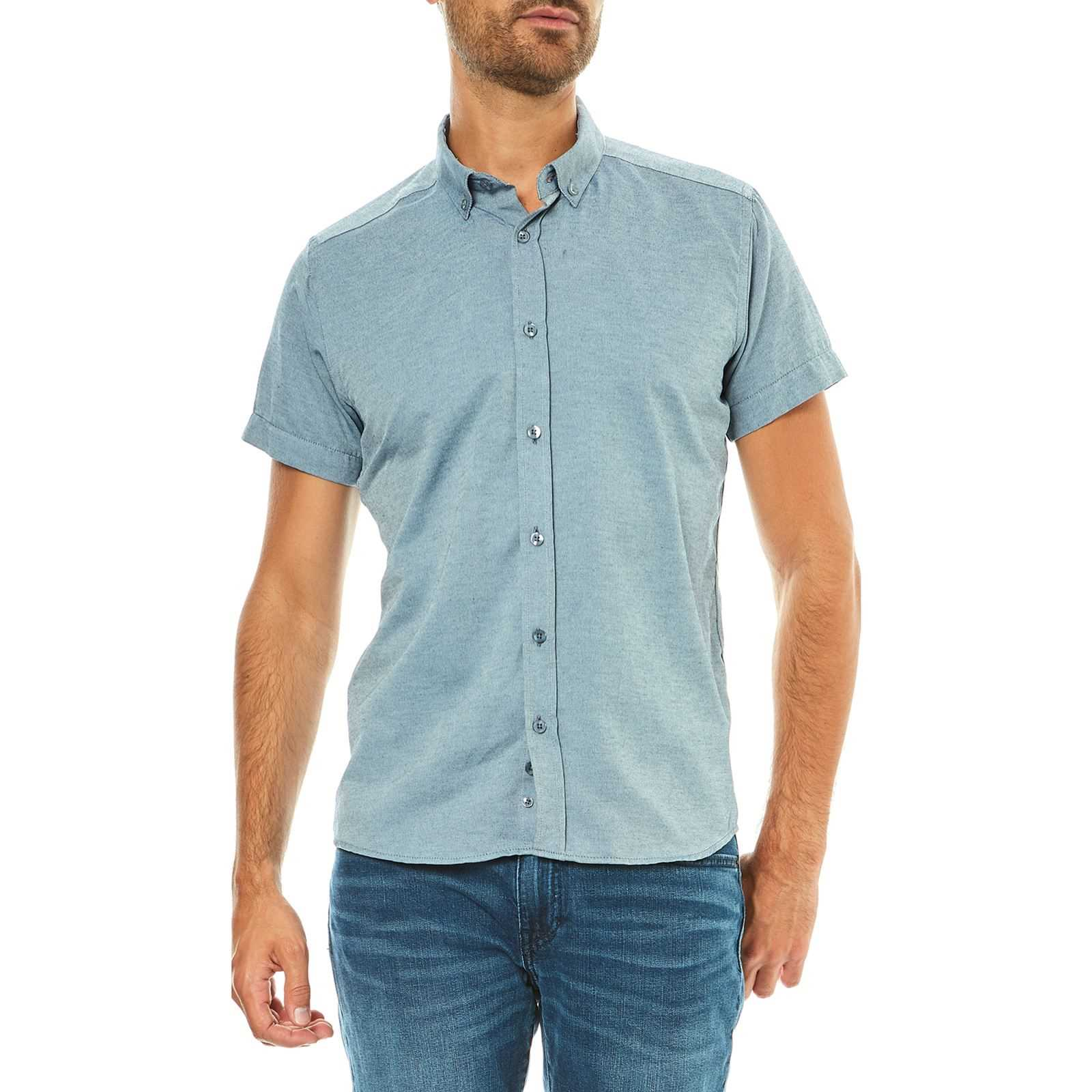 V Clair Manches Courtes Life Homme NagatoChemise Bleu Hope N nkOP80w