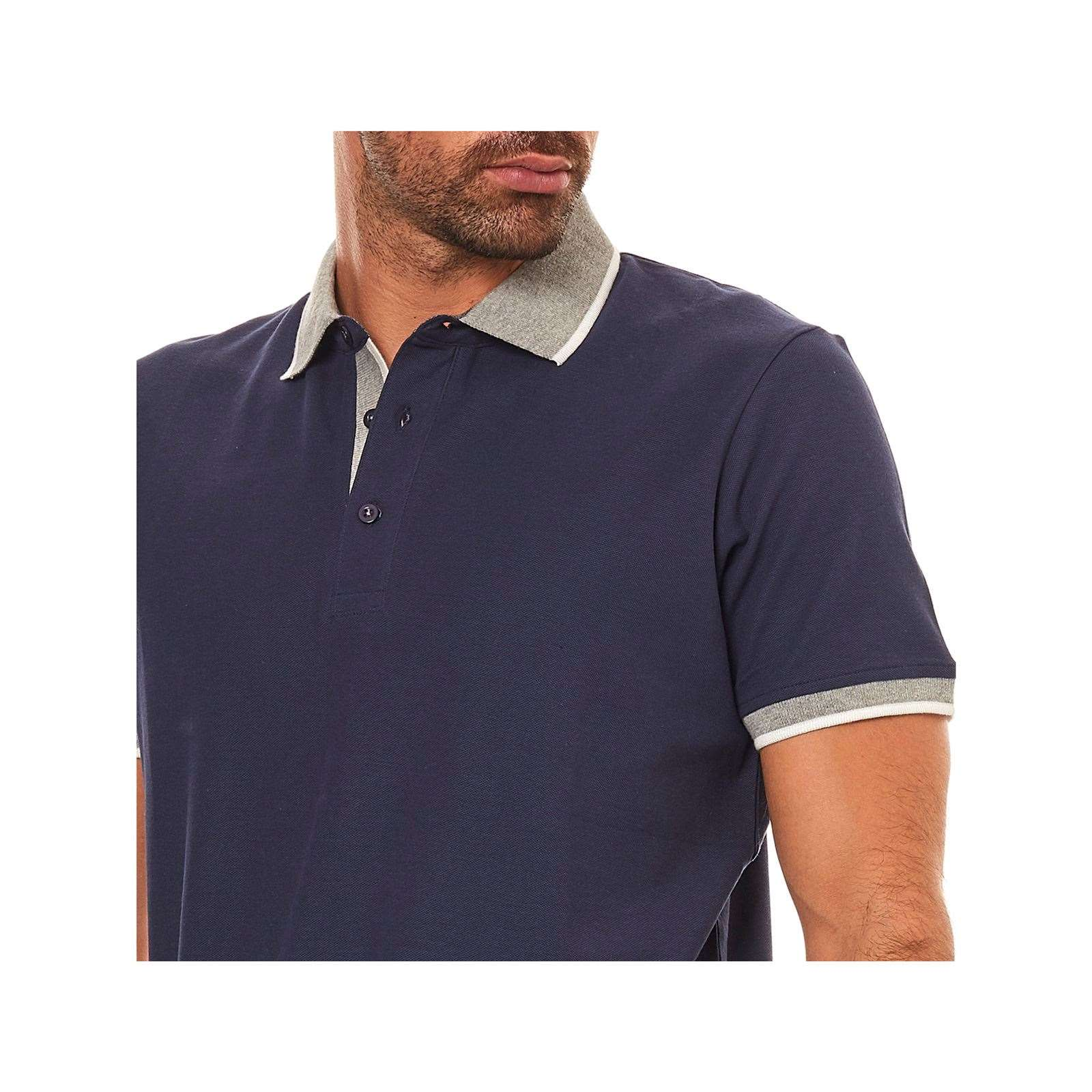 Marine V Polo Homme Best Mountain Manches CourtesBleu vN8n0wmO