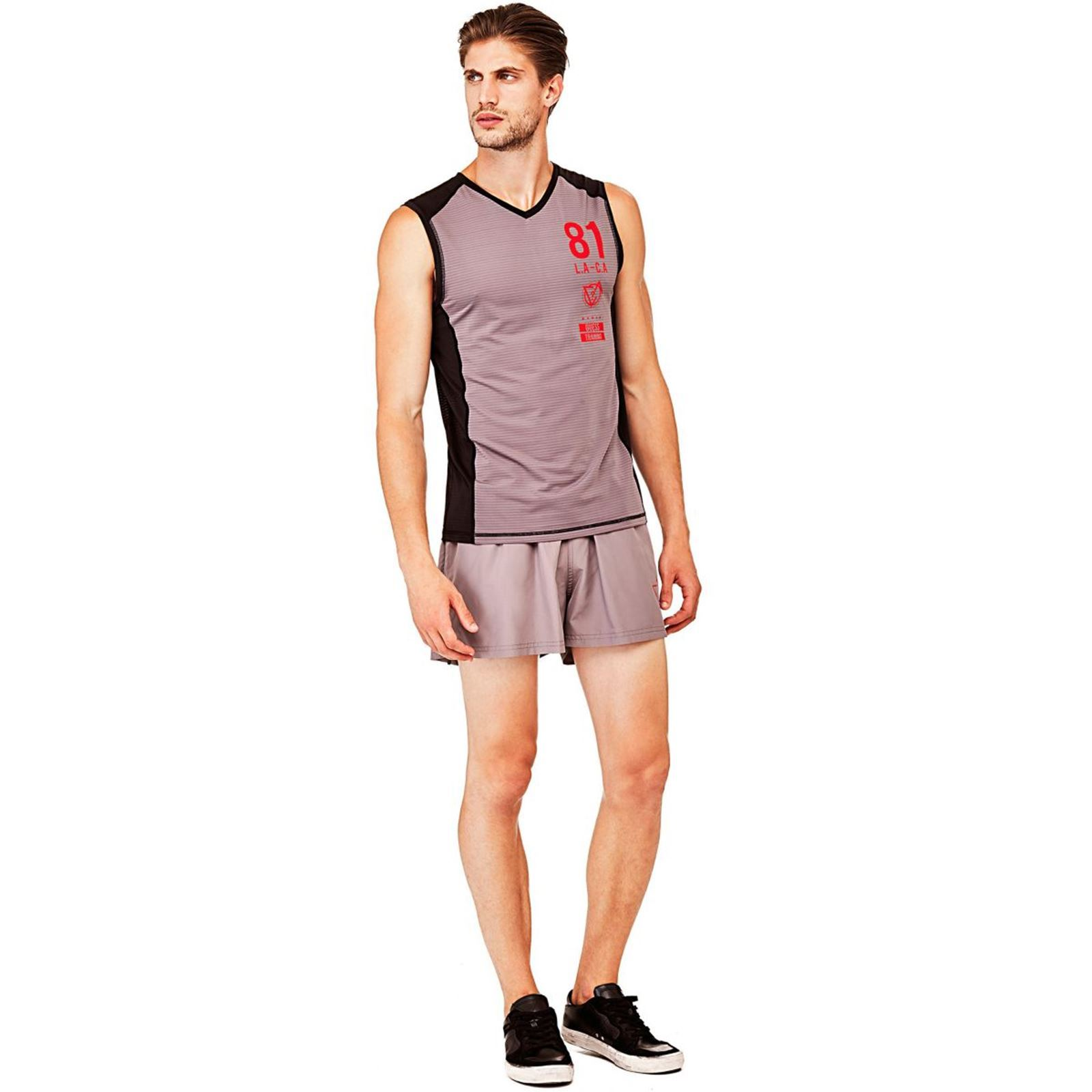 V Y76fvbgy Short De Guess Coursegris Homme 0nXkP8wO