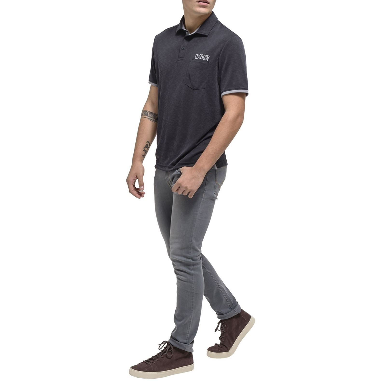 Noir Manches Courtes Homme Oxbow NaeviPolo V Y67gfby