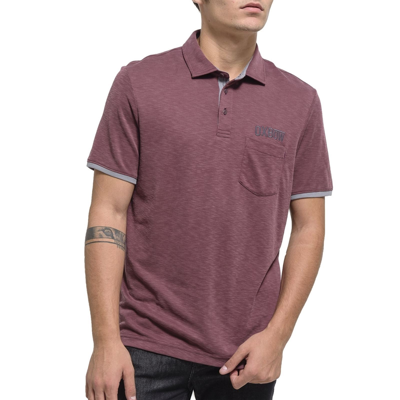 Homme Courtes Prune V Oxbow Manches NaeviPolo xdBCoe