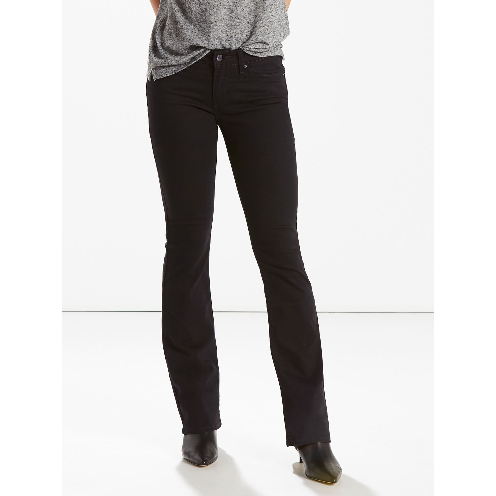 Levi's Black Femme Sheep 715Jean V Bootcut WHbEDY92Ie