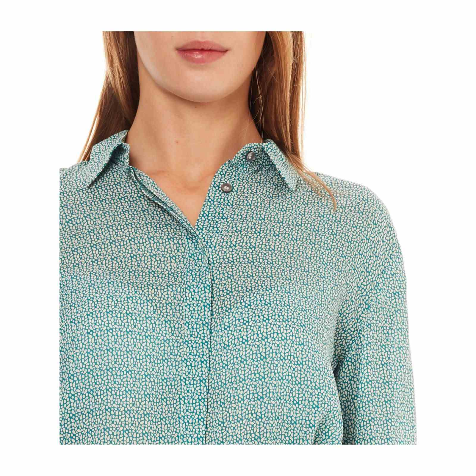 LonguesTurquoise V Chemise Benetton Manches Femme n0O8kXwP