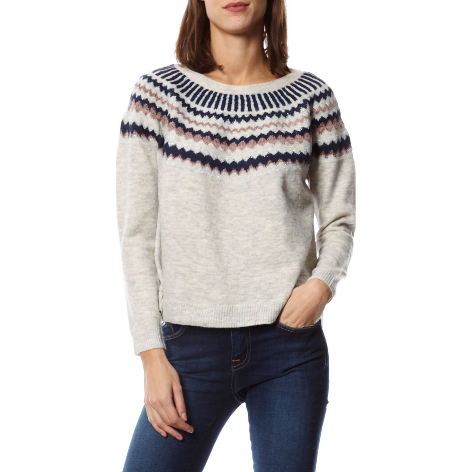 Only Only Clair V Only PullGris Clair Clair Femme PullGris Femme V PullGris Femme zMpqGSUV