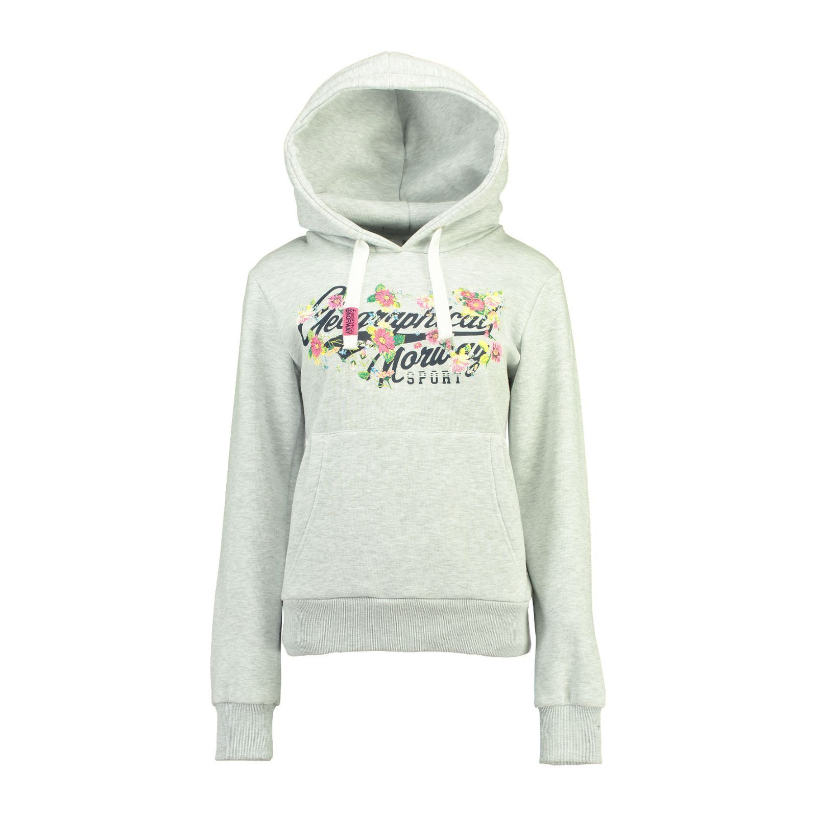 Geographical CapucheGris Femme a Clair V Norway Sweat 2YDWEH9I