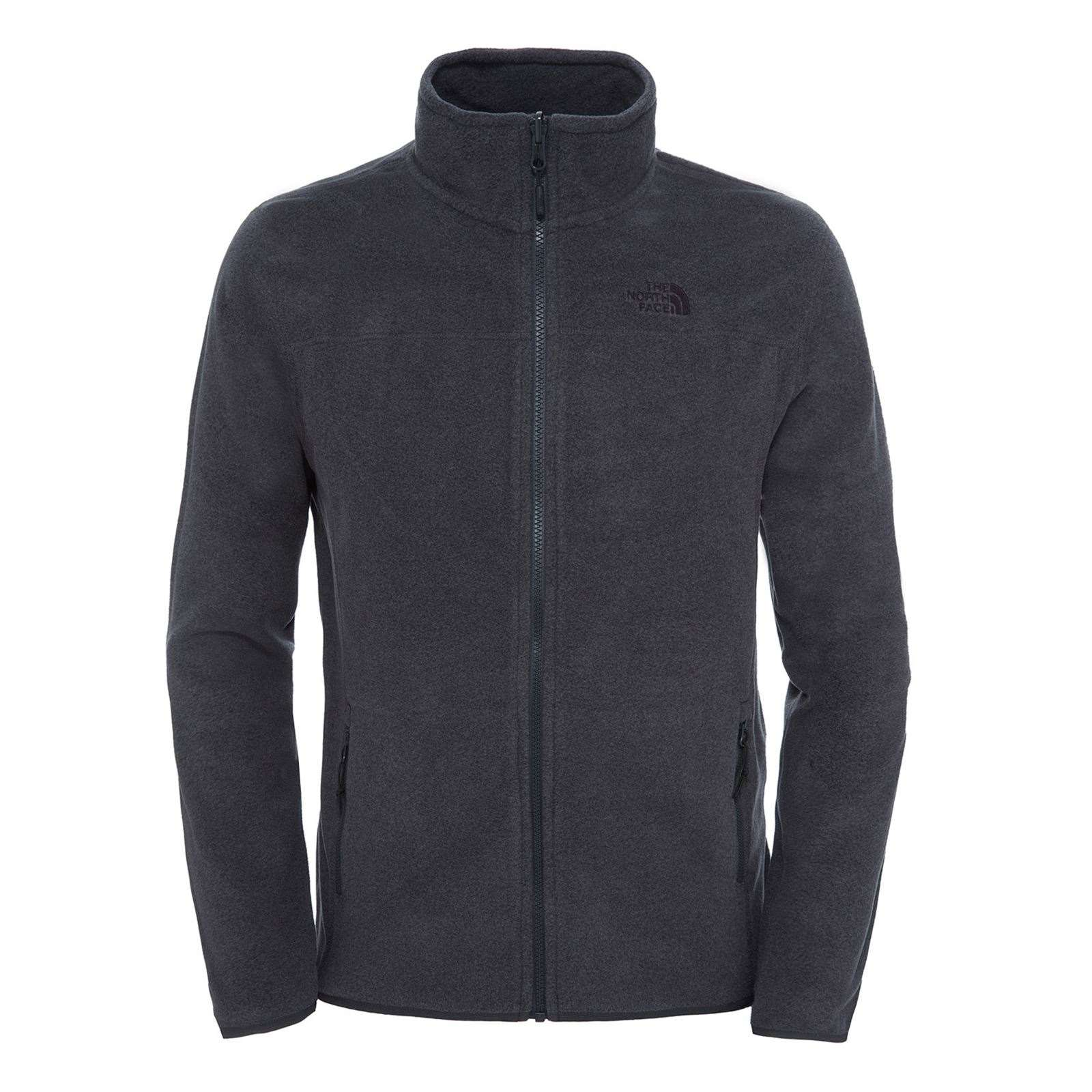 North Gris Homme 100 ZipPolaire Face Full V Glacier The DEHI92W