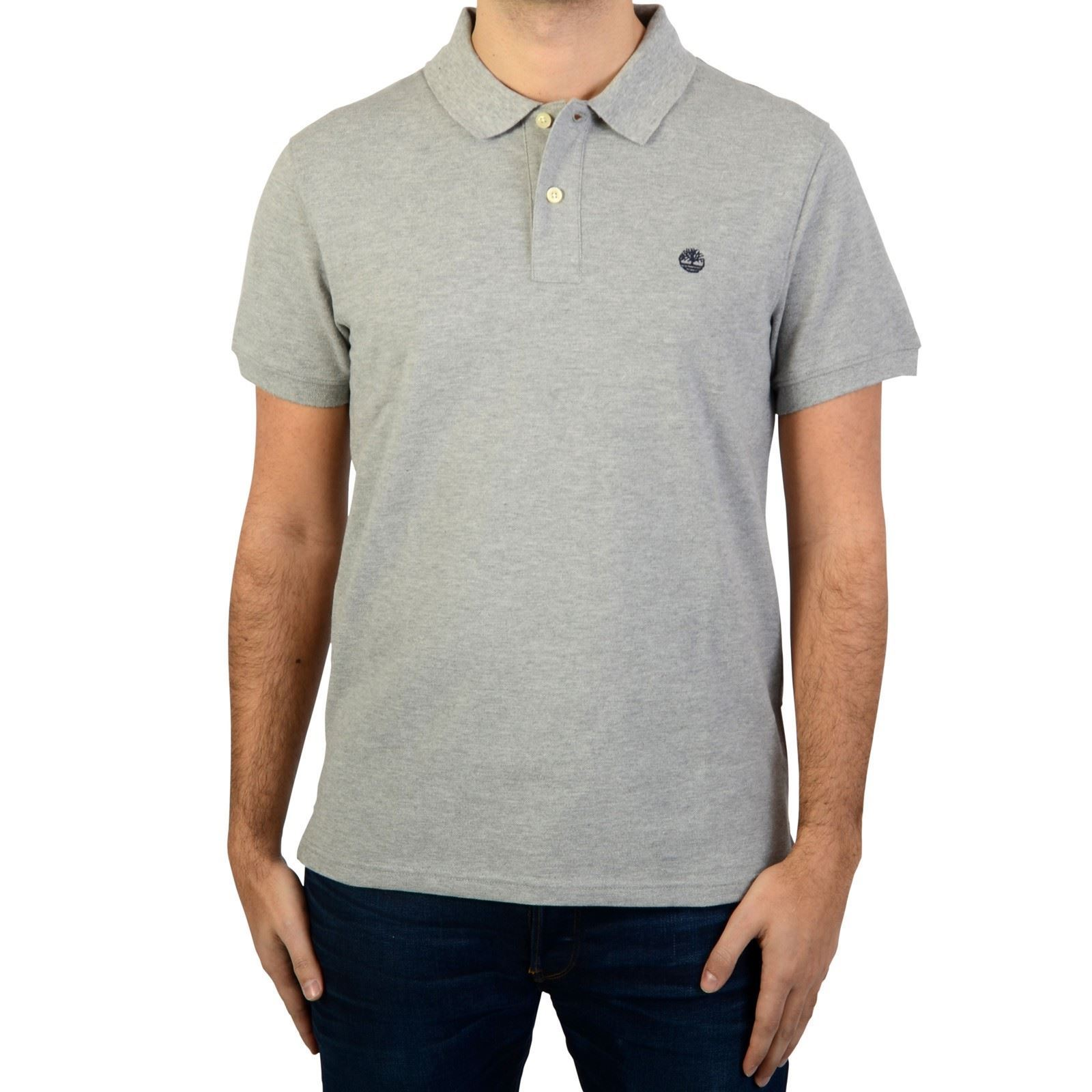 Homme Ss RvrPolo Millers V Timberland Courtes Manches Gris CoxeWdBr
