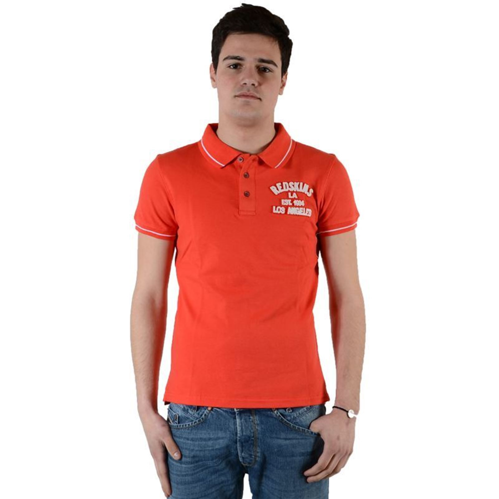 Esteban Homme Manches Orange Redskins Courtes V BridgePolo D2YIHeW9E