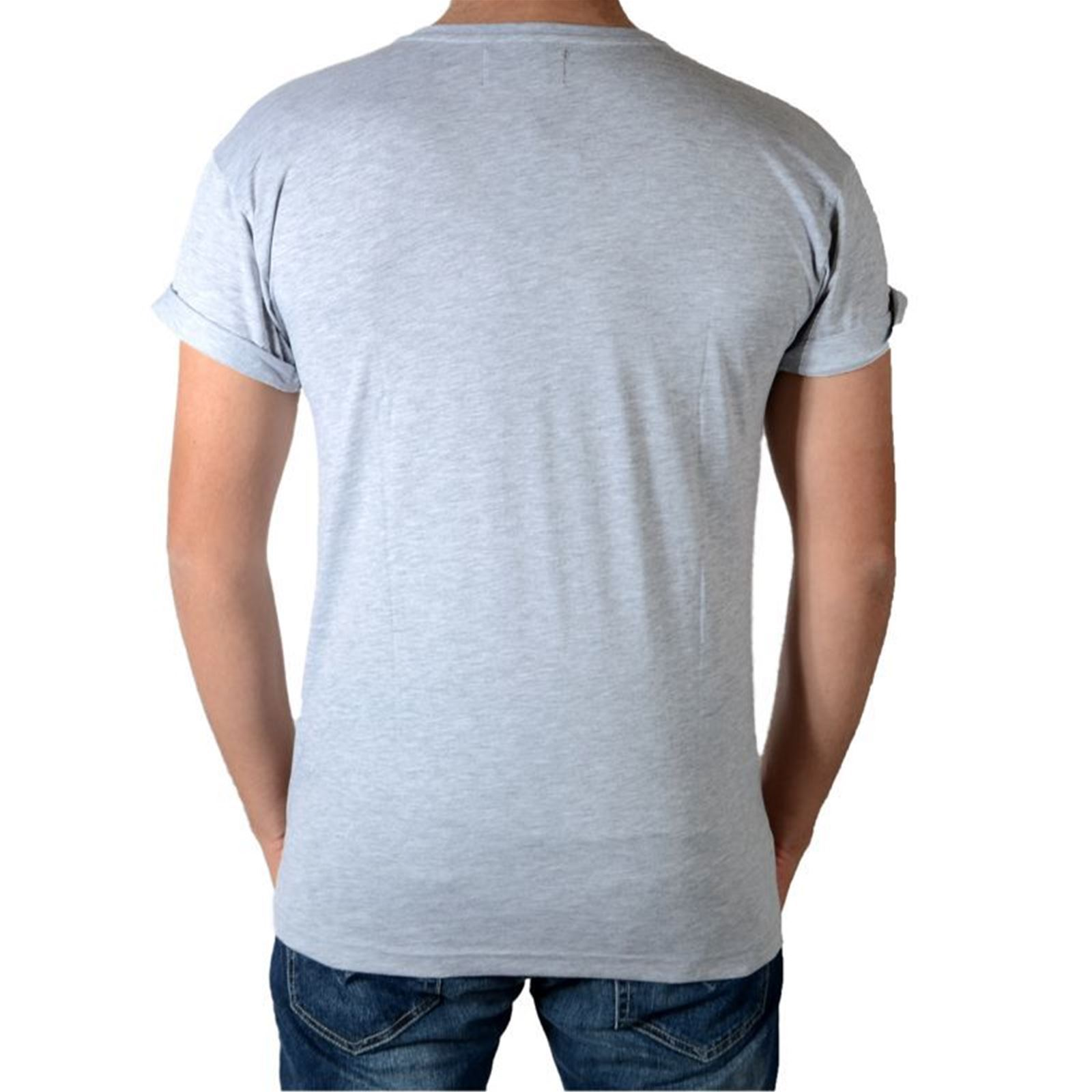 T Homme Celebry shirt Tees CourtesGris Manches V dBxtQsrCho