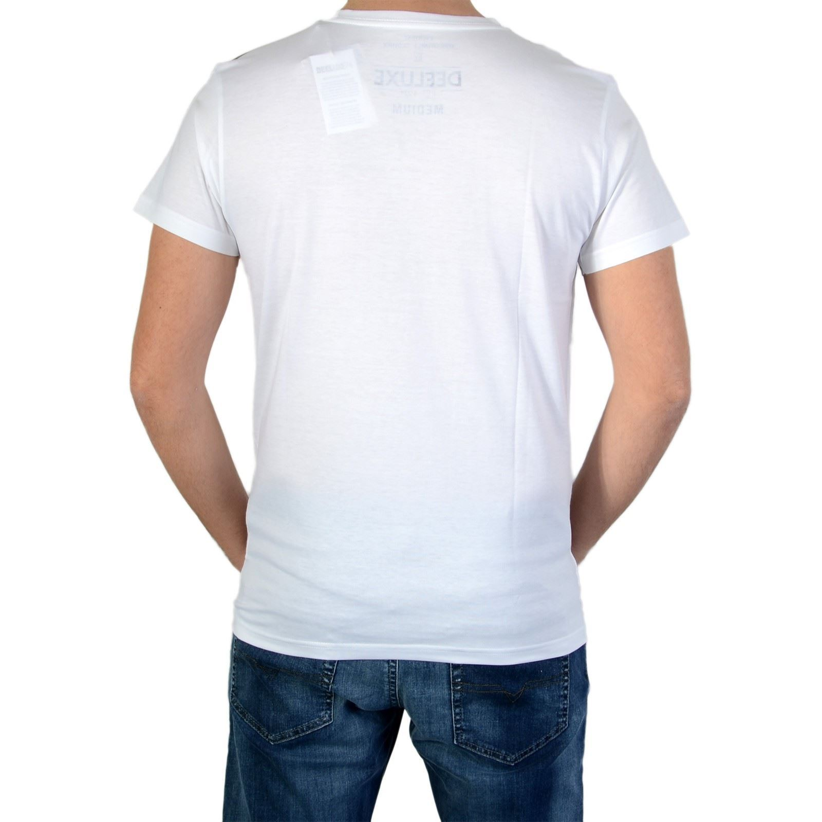 V Courtes Homme AllworldT shirt Manches Blanc Deeluxe fby76g