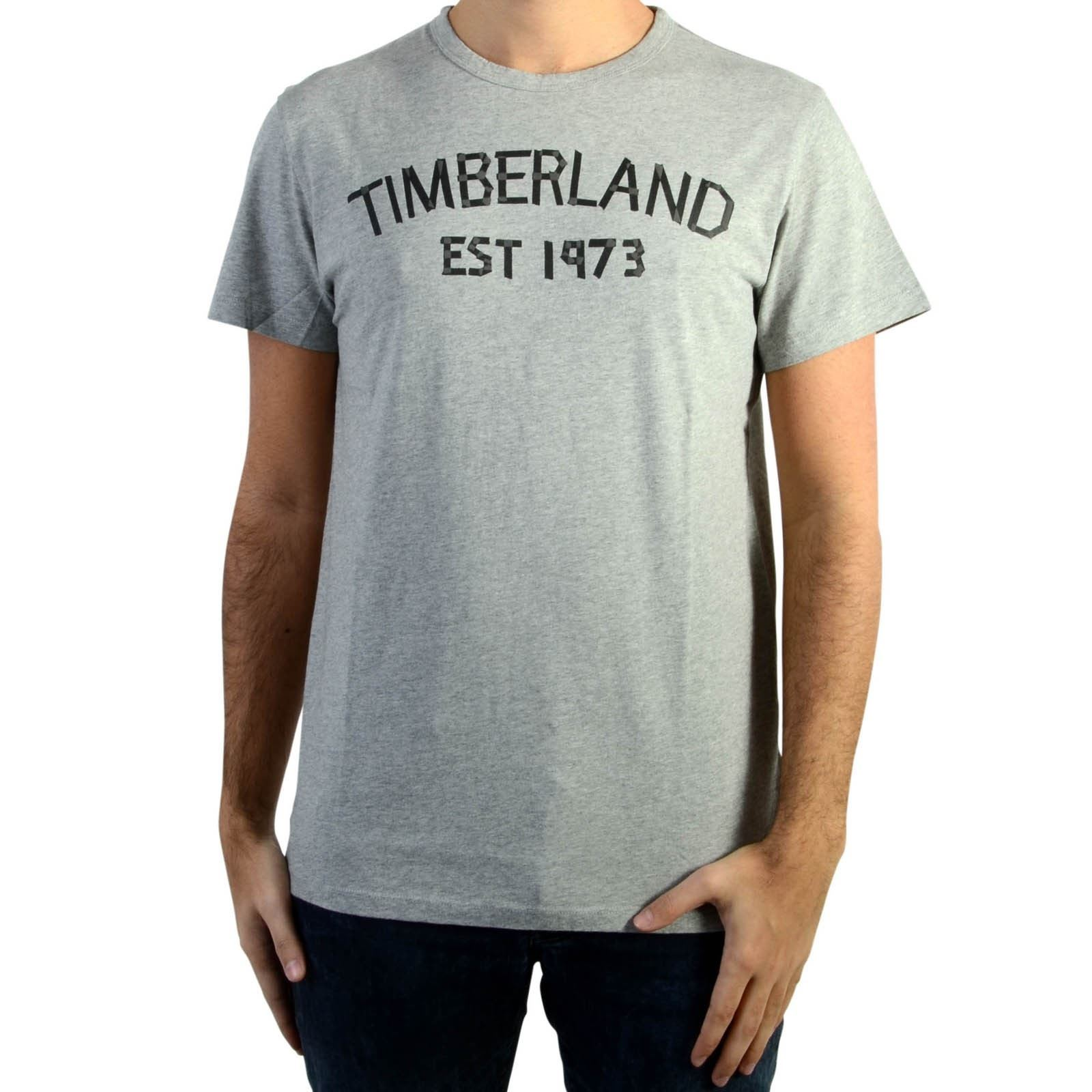 Gris Homme HeatT Manches Timberland Tee Gry shirt Tape V Med Courtes WE29IDHY