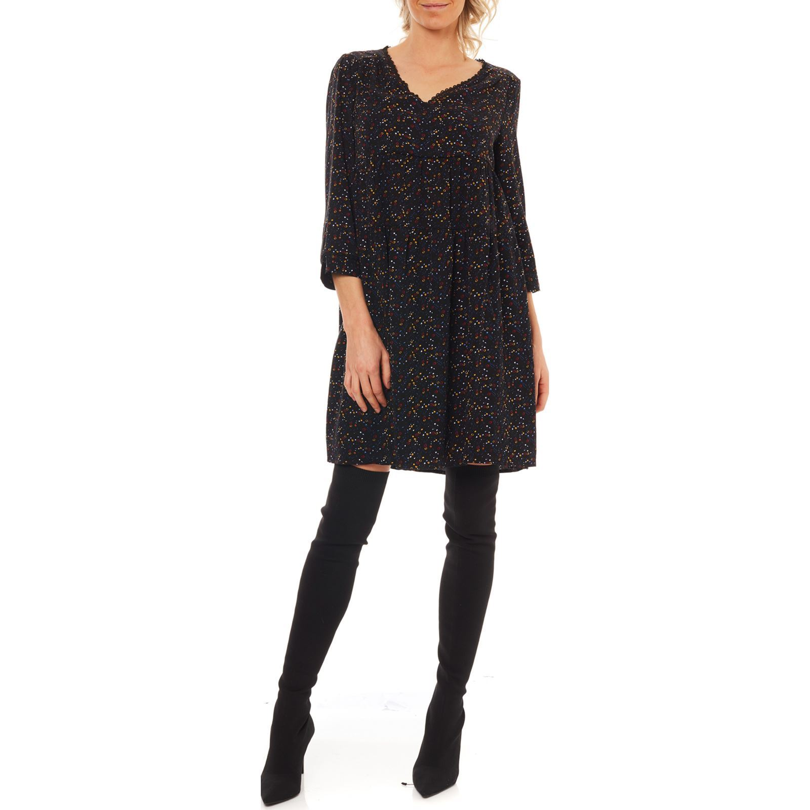 Femme Only Only Robe V FluideNoir IeWE9bDHY2