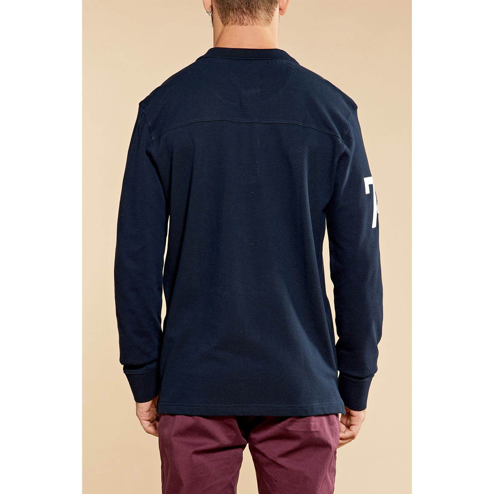Marine Deeluxe Manches Bleu Homme Longues FoolingPolo V dsrthQC