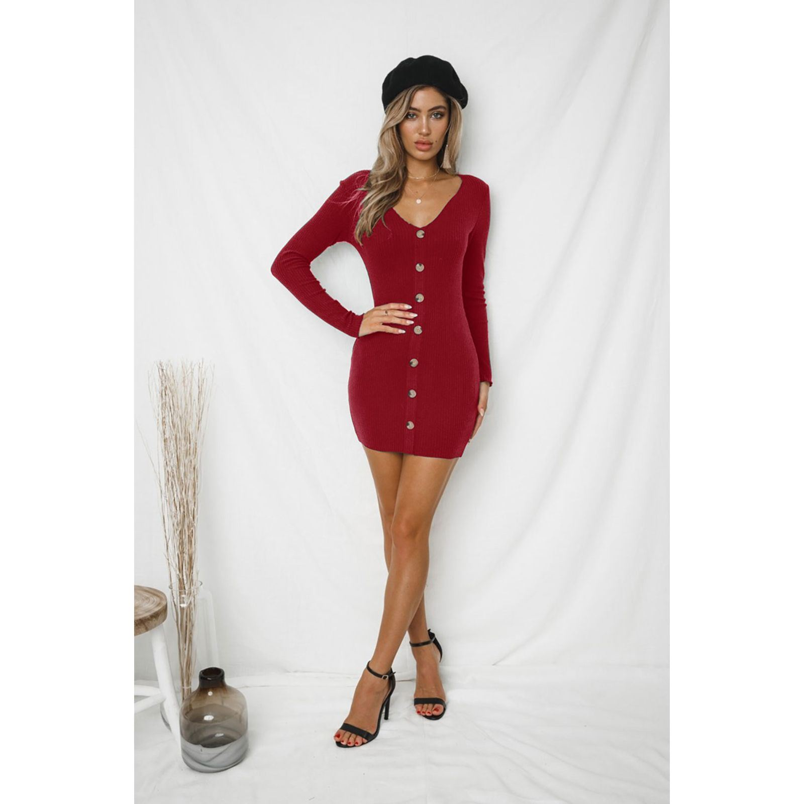 Robe PullRouge Femme Holary PullRouge PullRouge Holary Holary Robe Femme V V Robe Femme PuTiOkXZ