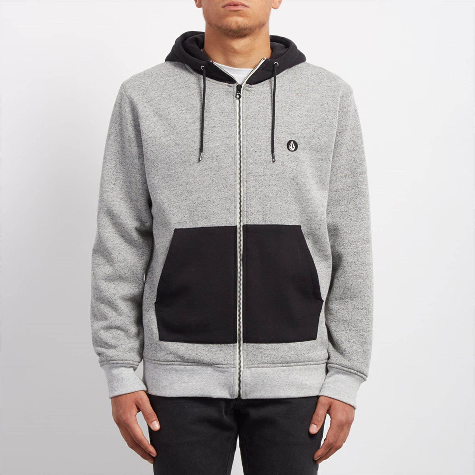 V Gris LinedSweat Capuche a Homme Factual Volcom odBexrC
