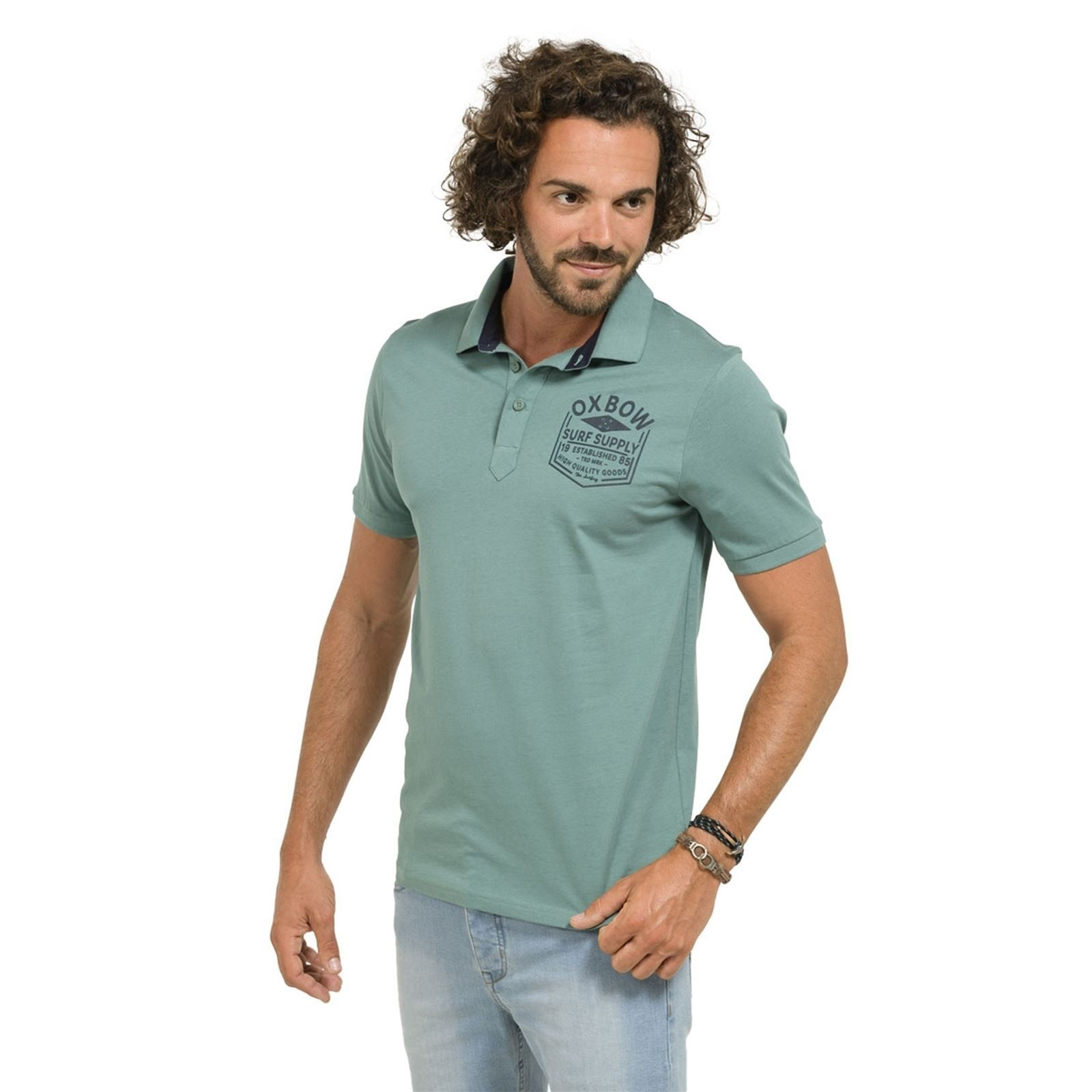 Courtes Homme V Oxbow Manches Pistache NimrodPolo xBedWroC