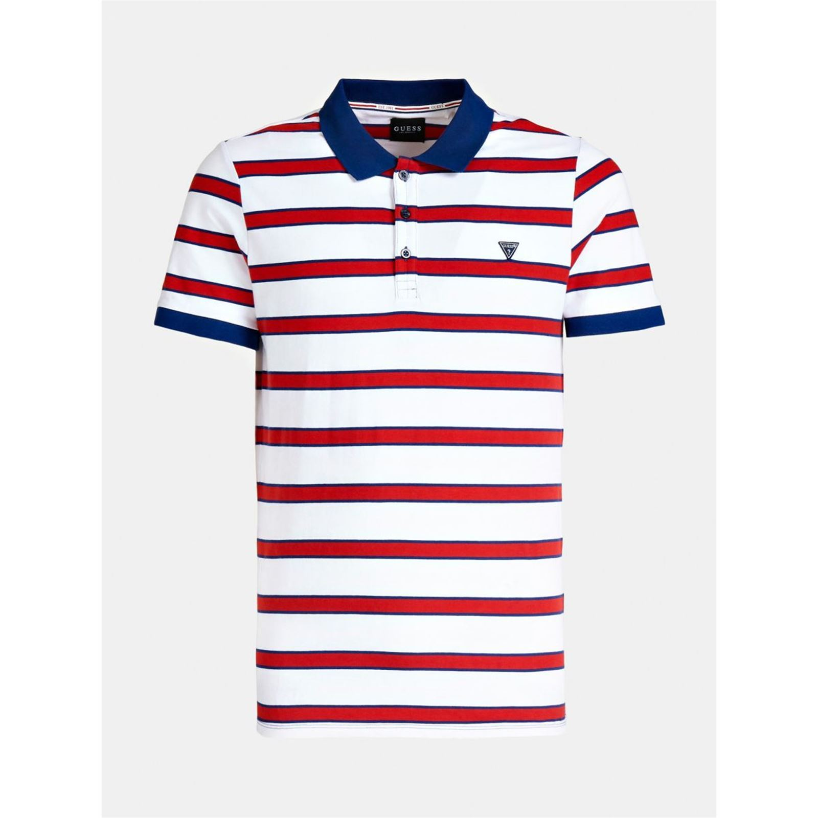 V RayeRouge Homme Guess Motif Polo 8PXwnOk0