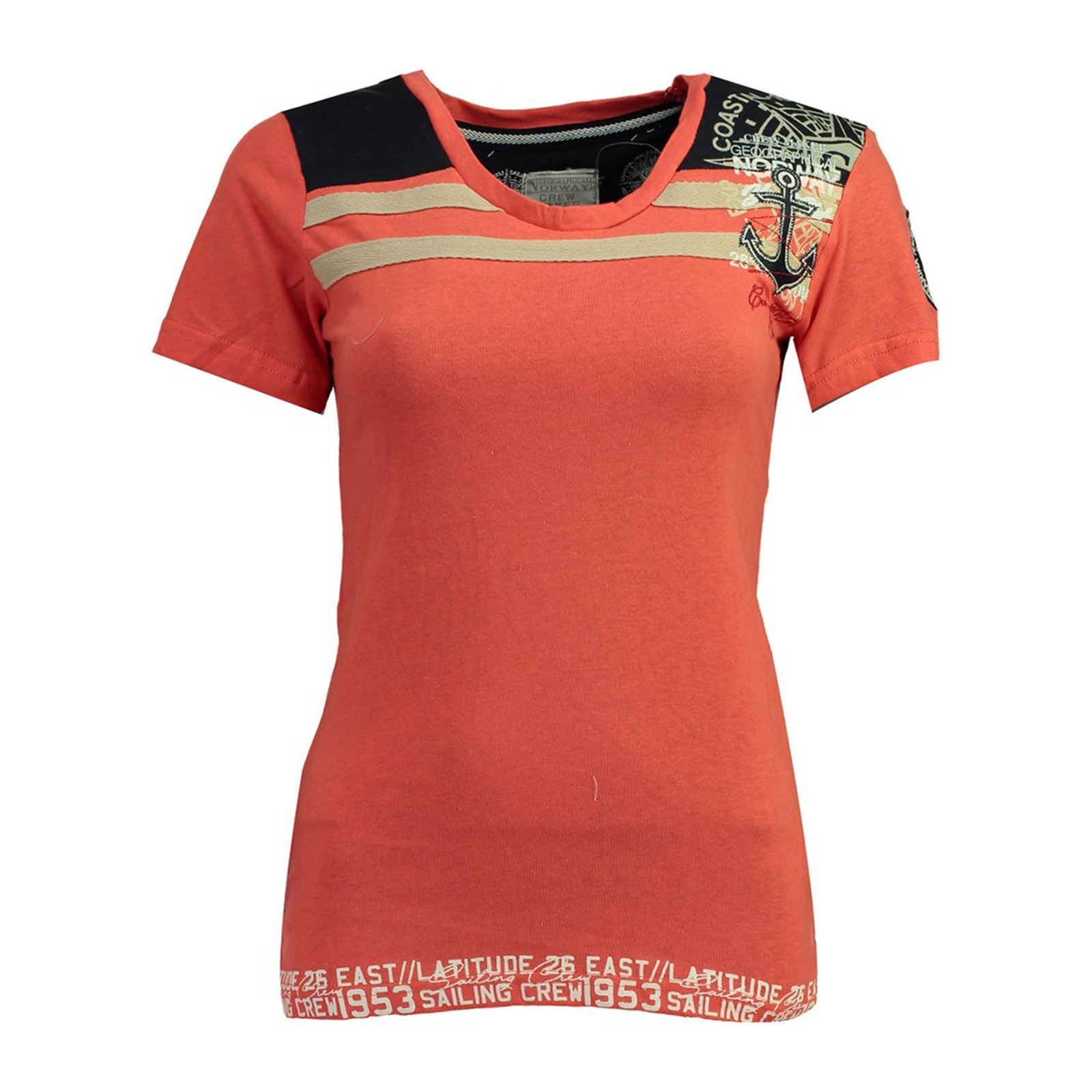 Norway shirt Manches Femme Geographical JrubisT Courtes Corail V m8n0vNwO