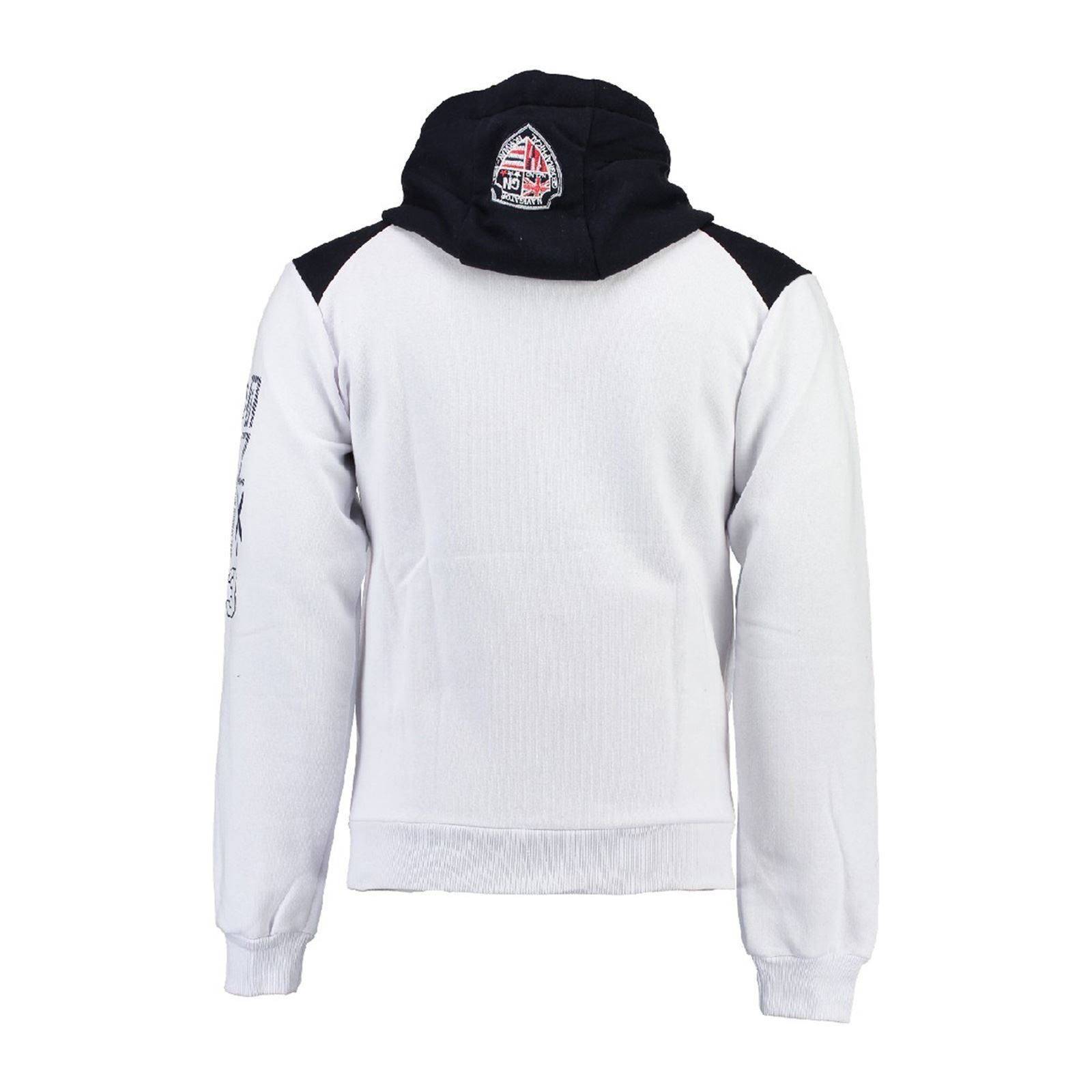 V Norway GlappingSweat Geographical Blanc Capuche a Homme tdrhQsC