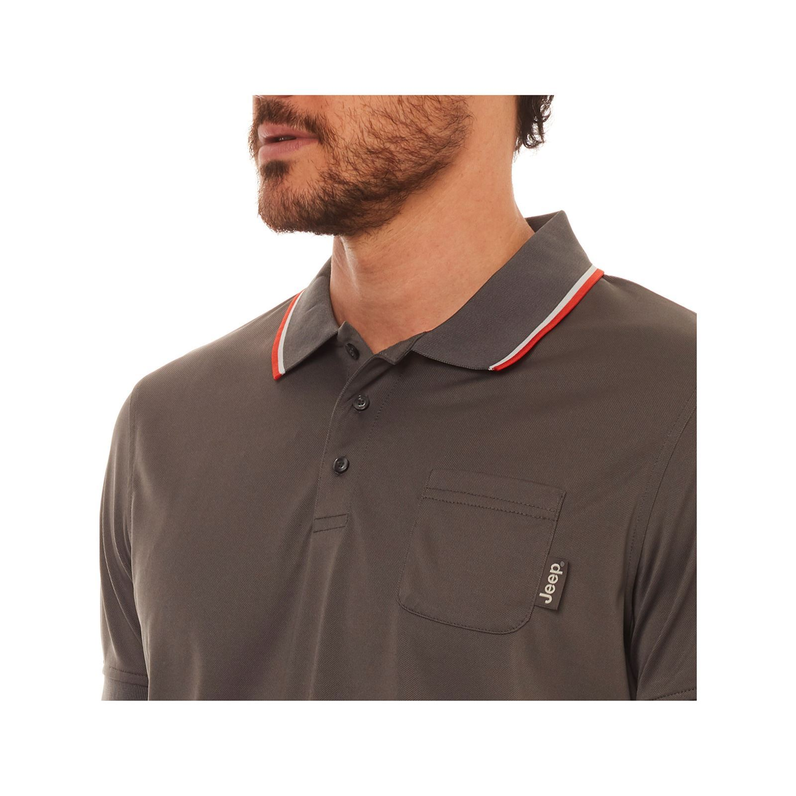 V Jeep Manches Polo CourtesGris Homme 8n0wOkP