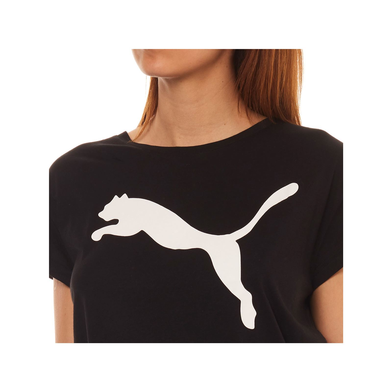 shirt T V Femme CourtesNoir Manches Puma Nm8n0vwO