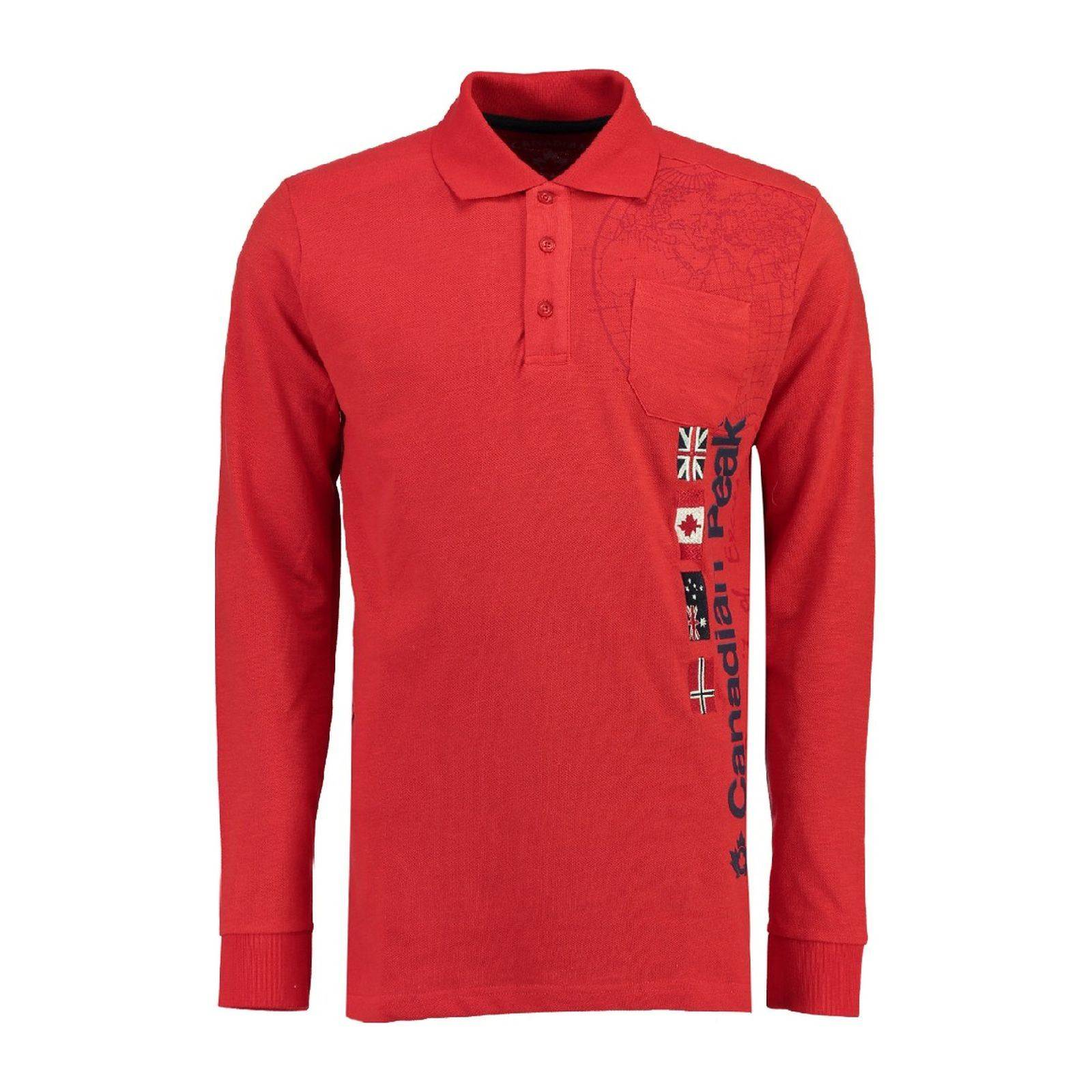Rouge Homme V 100 Cp 2600Polo Longues Canadian Manches Kazz Peak mO8Nw0vn