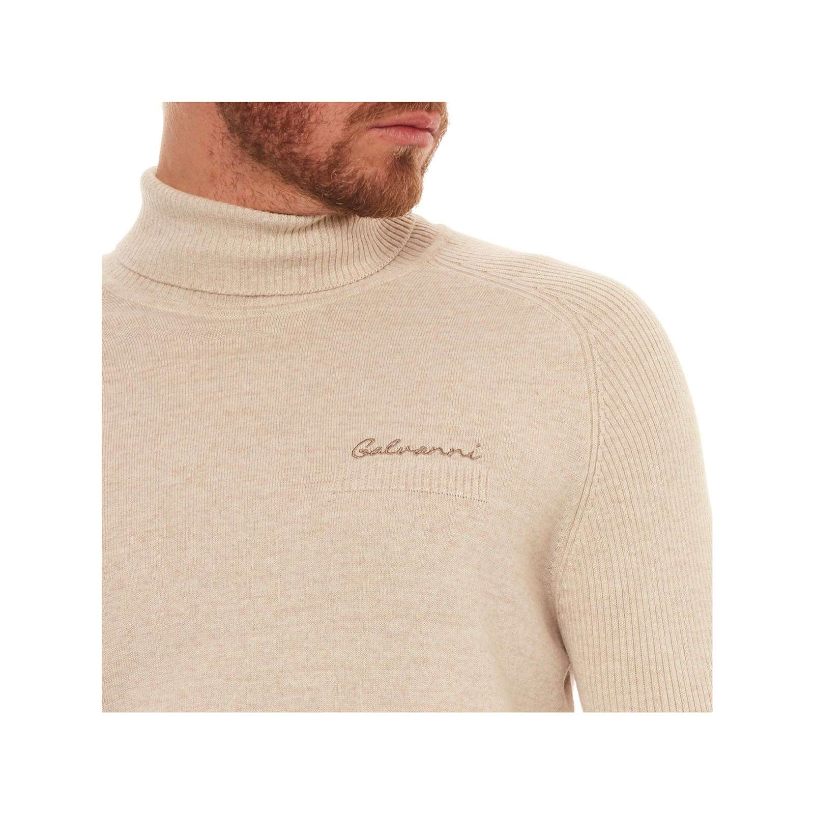 Galvanni V Pull 50LaineBeige Roule Homme Col PZiXuk