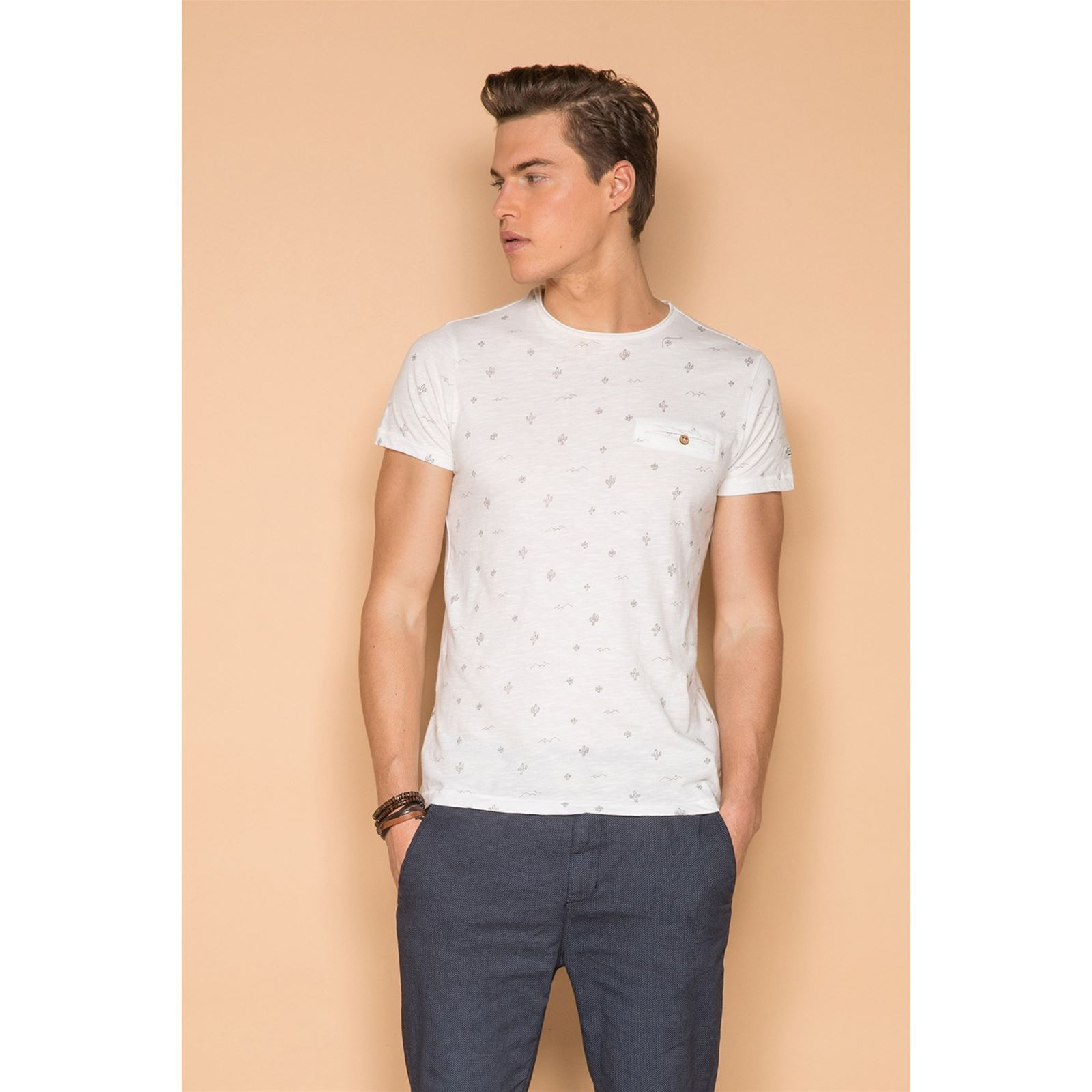Blanc MexicoT V Courtes Deeluxe Homme shirt Manches kiZuOPXT