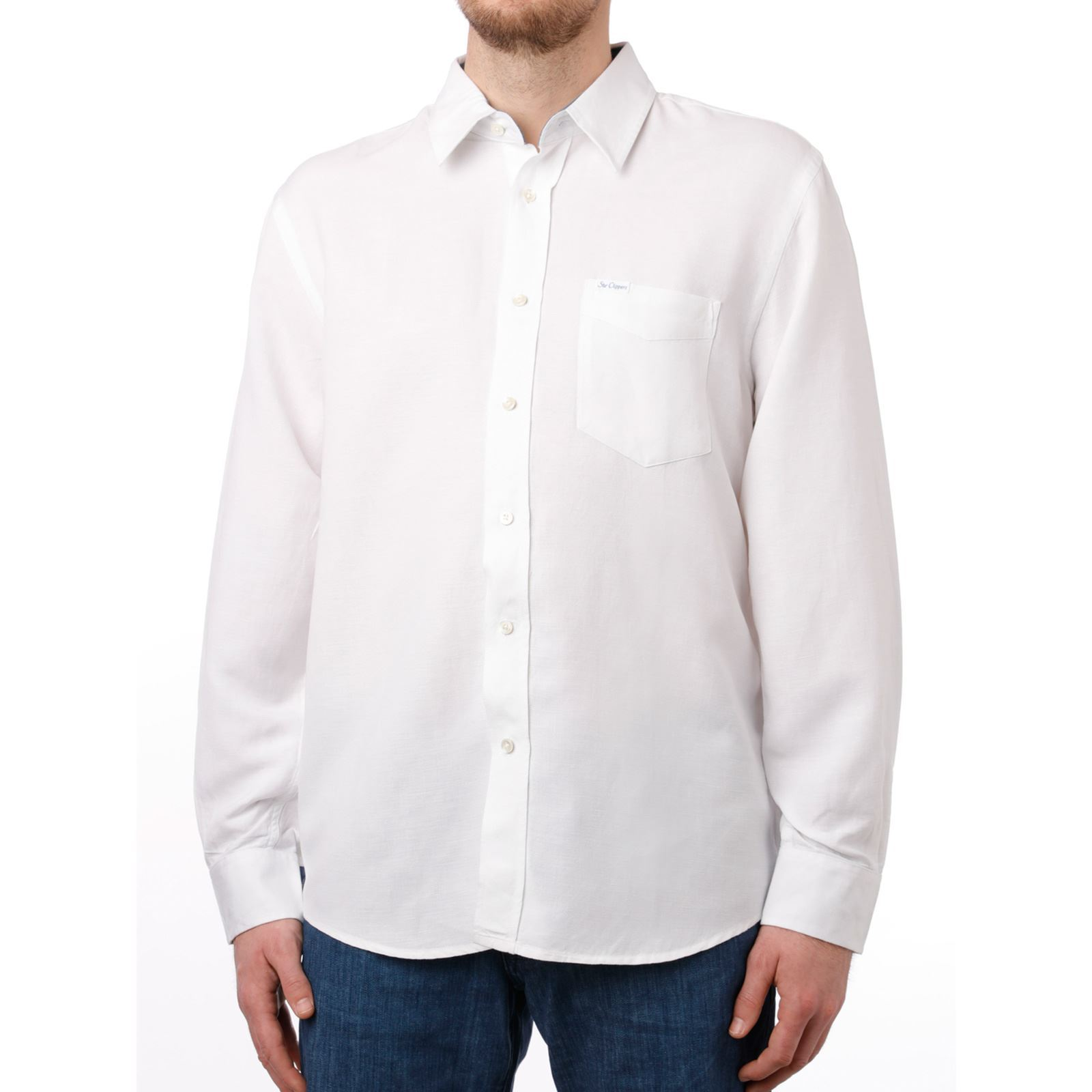 Chemise 55LinBlanc Homme Clippers V Star hQrCtsd