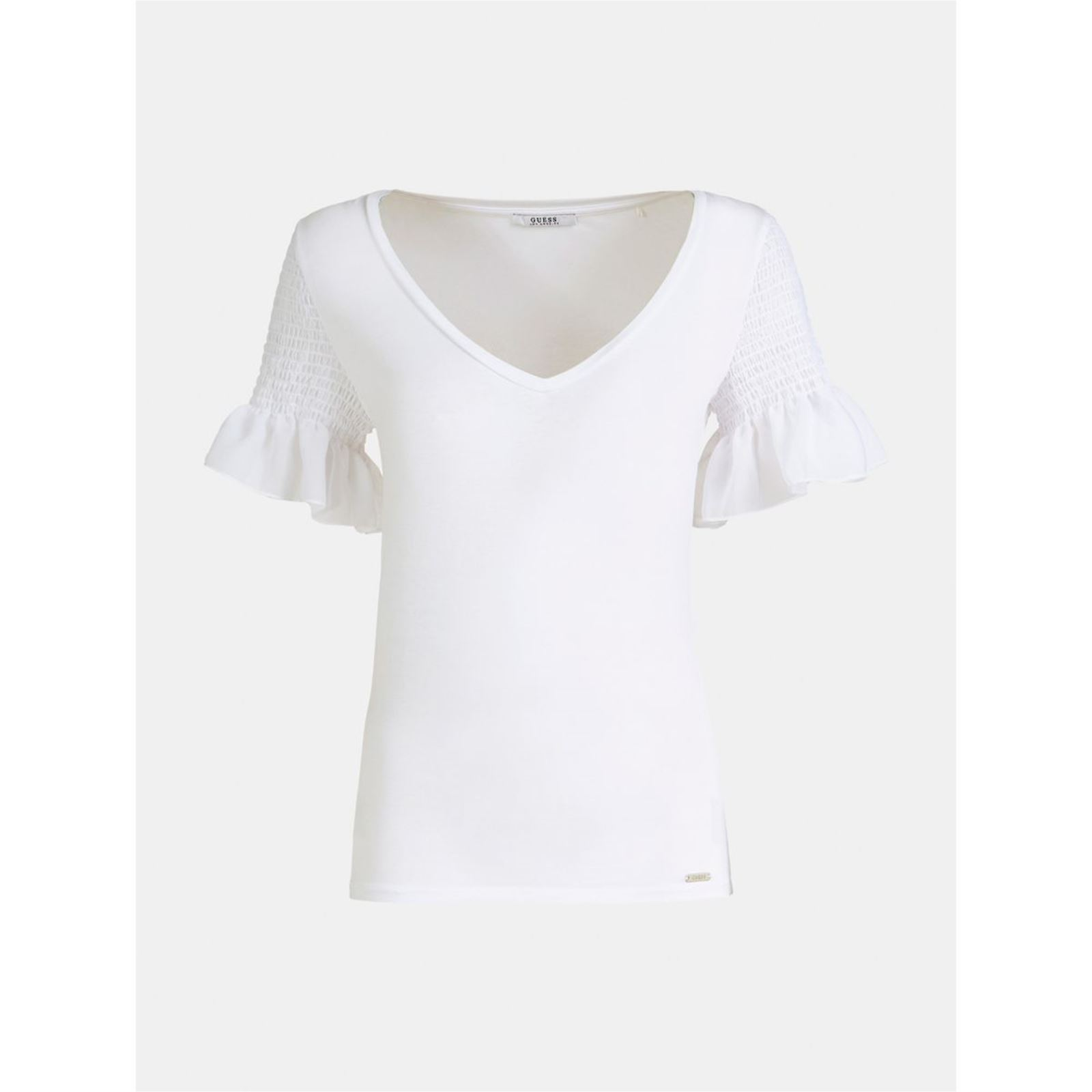 Guess Top VolantBlanc Femme V Guess Guess Top Top VolantBlanc Femme VolantBlanc V 6bfyY7g
