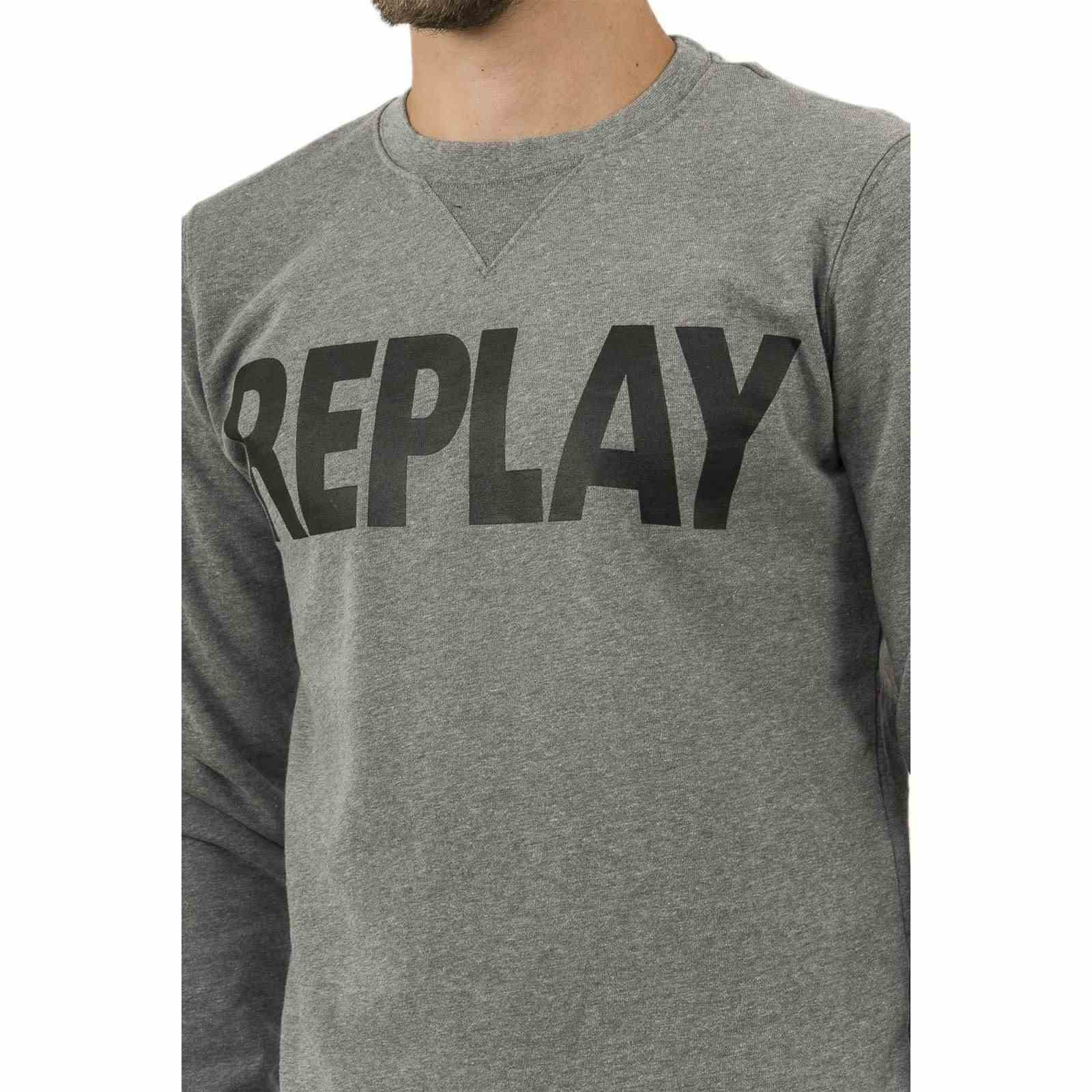 Homme Sweat Replay Homme Sweat shirtGris V shirtGris Homme Replay Sweat V Replay shirtGris Fc3luK1JT